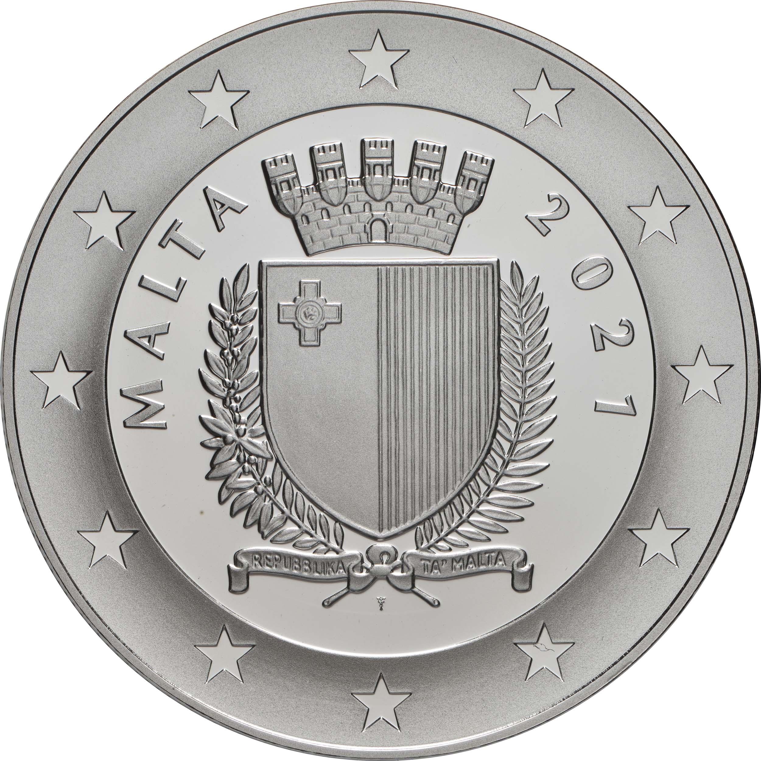 Rückseite:Malta : 10 Euro 550. Geburtstag Albrecht Dürer  2021 PP