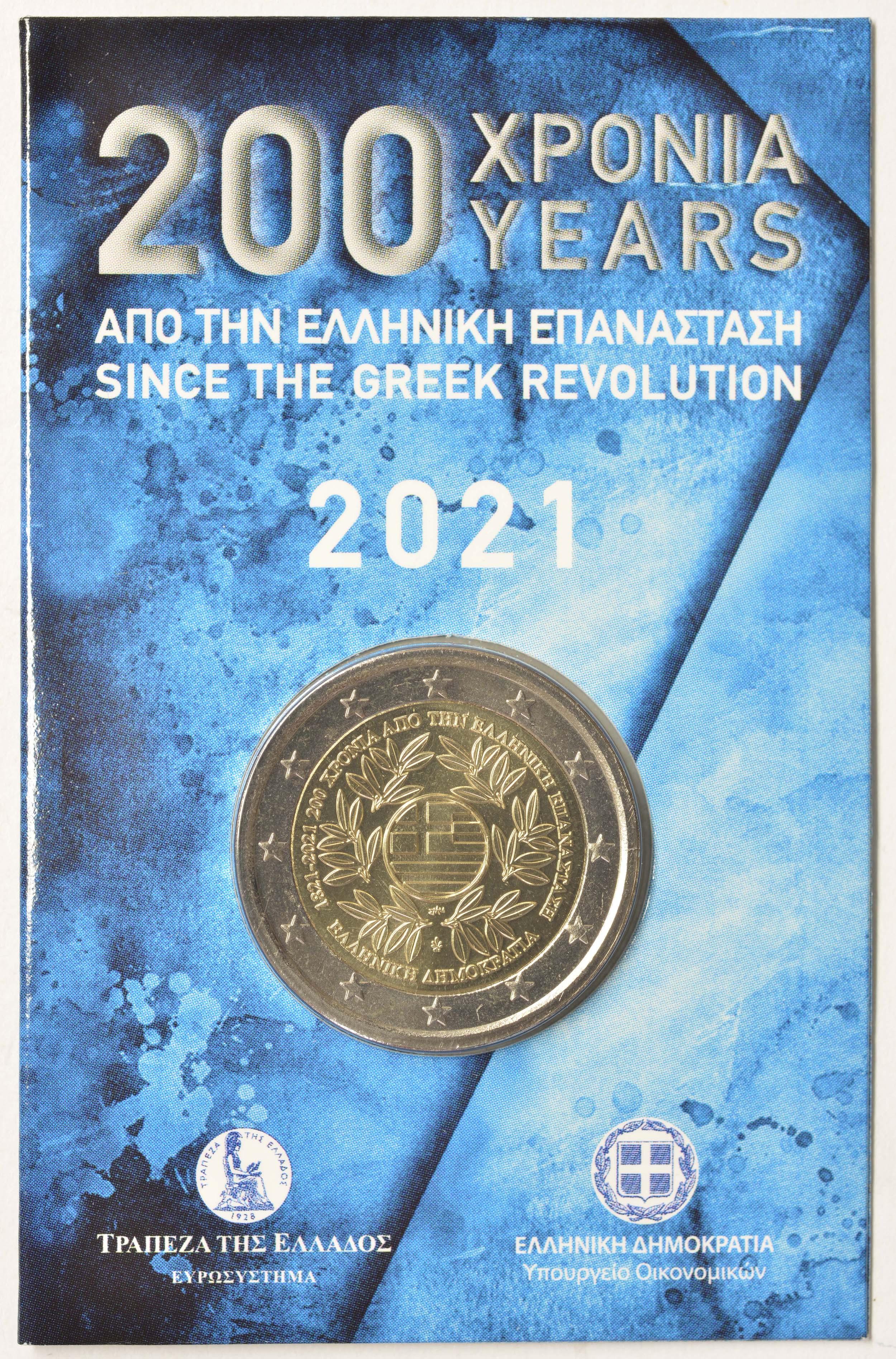 Lieferumfang:Griechenland : 2 Euro 200. Jahrestag der griechischen Revolution  2021 Stgl.