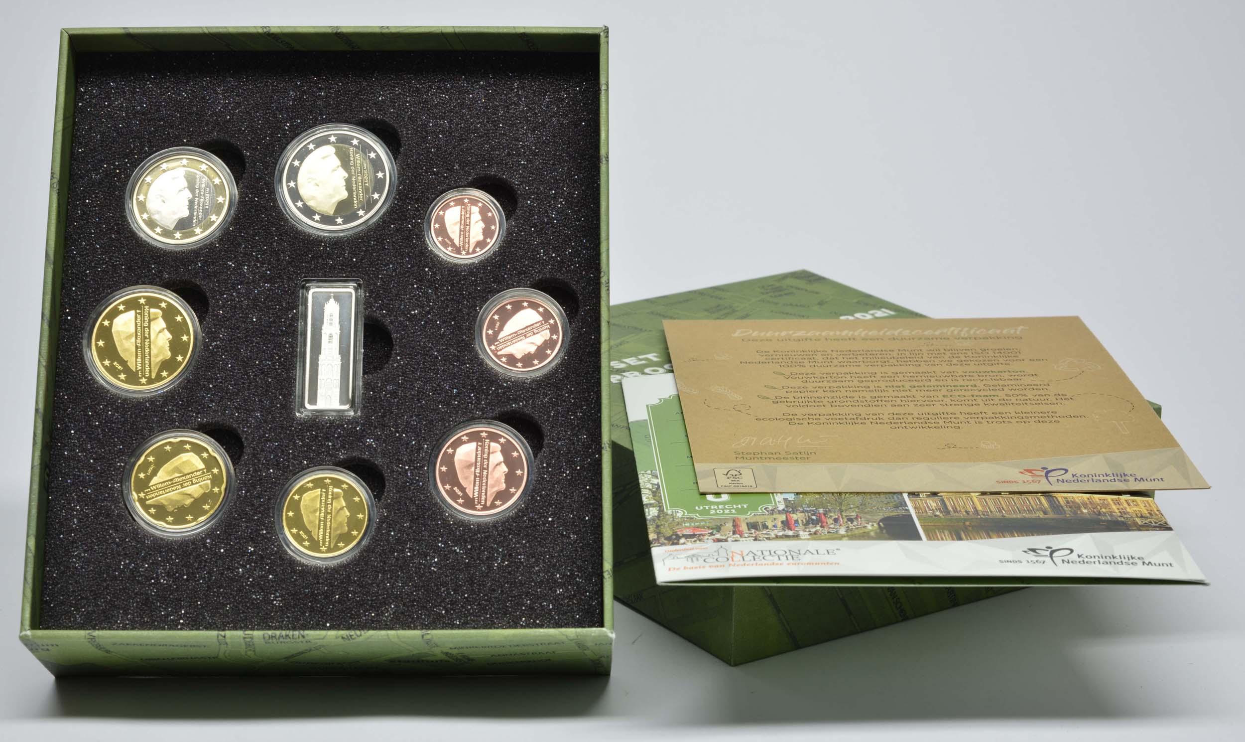 Lieferumfang:Niederlande : 3,88 Euro KMS Niederlande mit Medaille   2021 PP