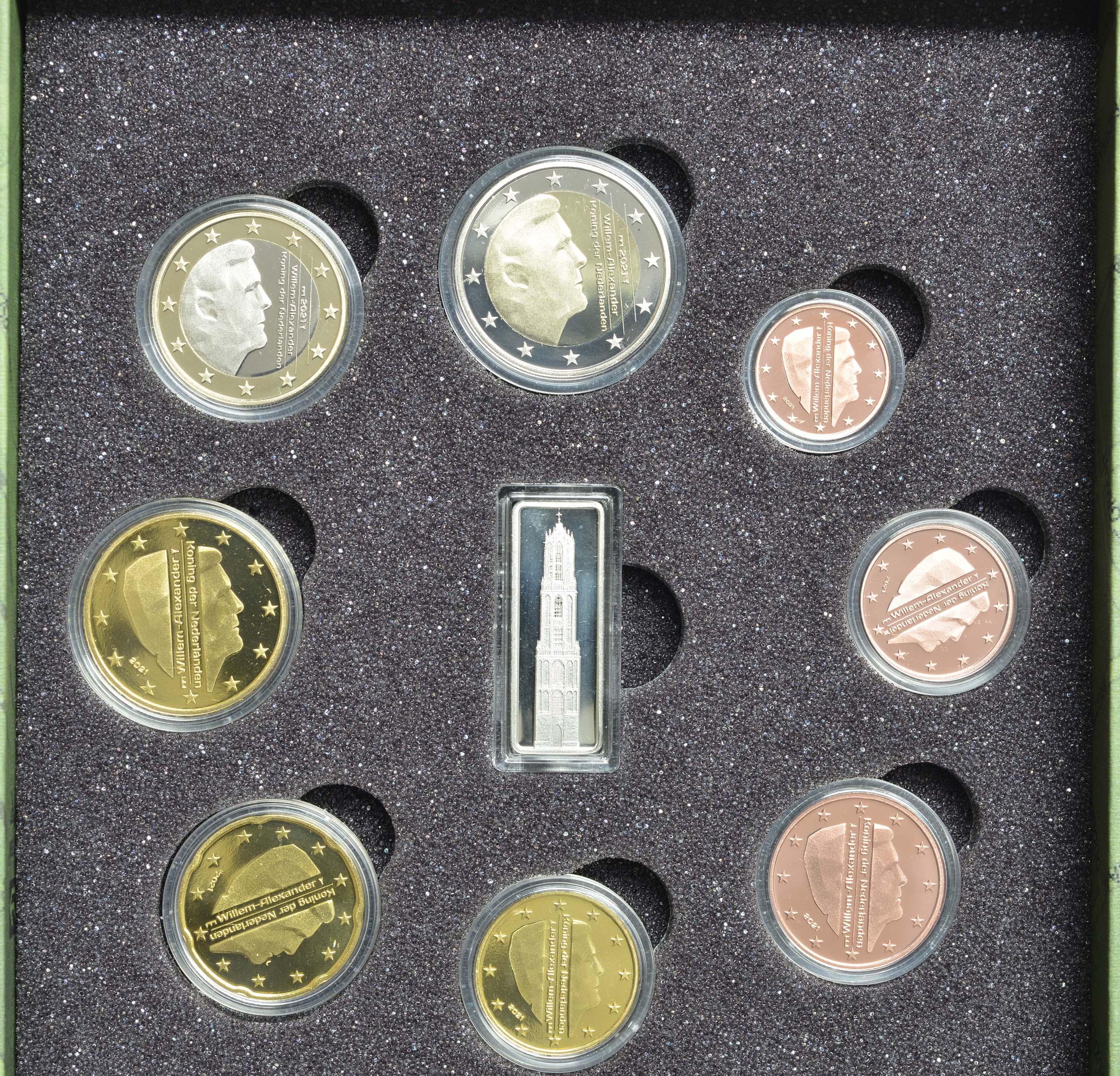Vorderseite:Niederlande : 3,88 Euro KMS Niederlande mit Medaille   2021 PP