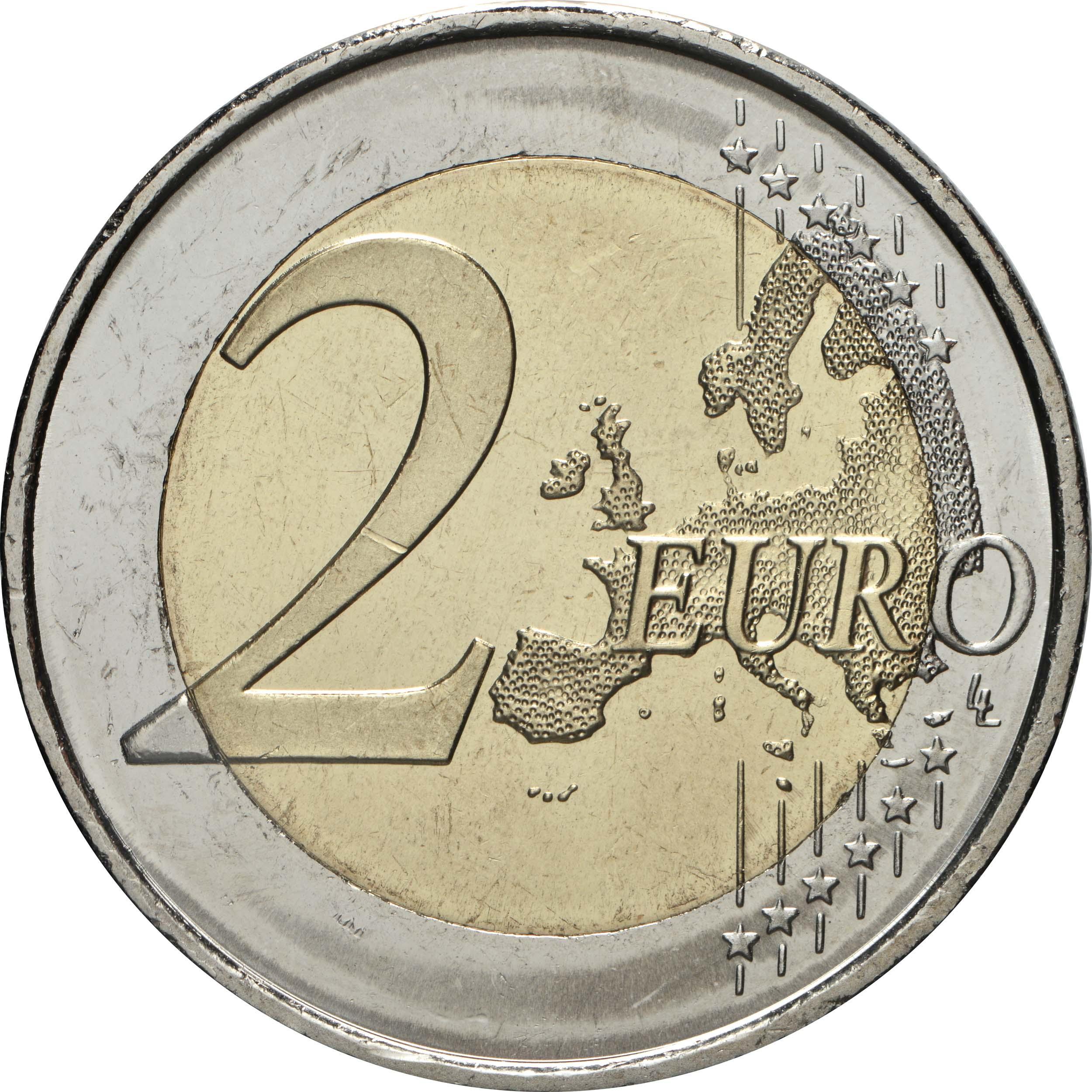 Vorderseite:Spanien : 2 Euro Altstadt von Toledo  2021 bfr