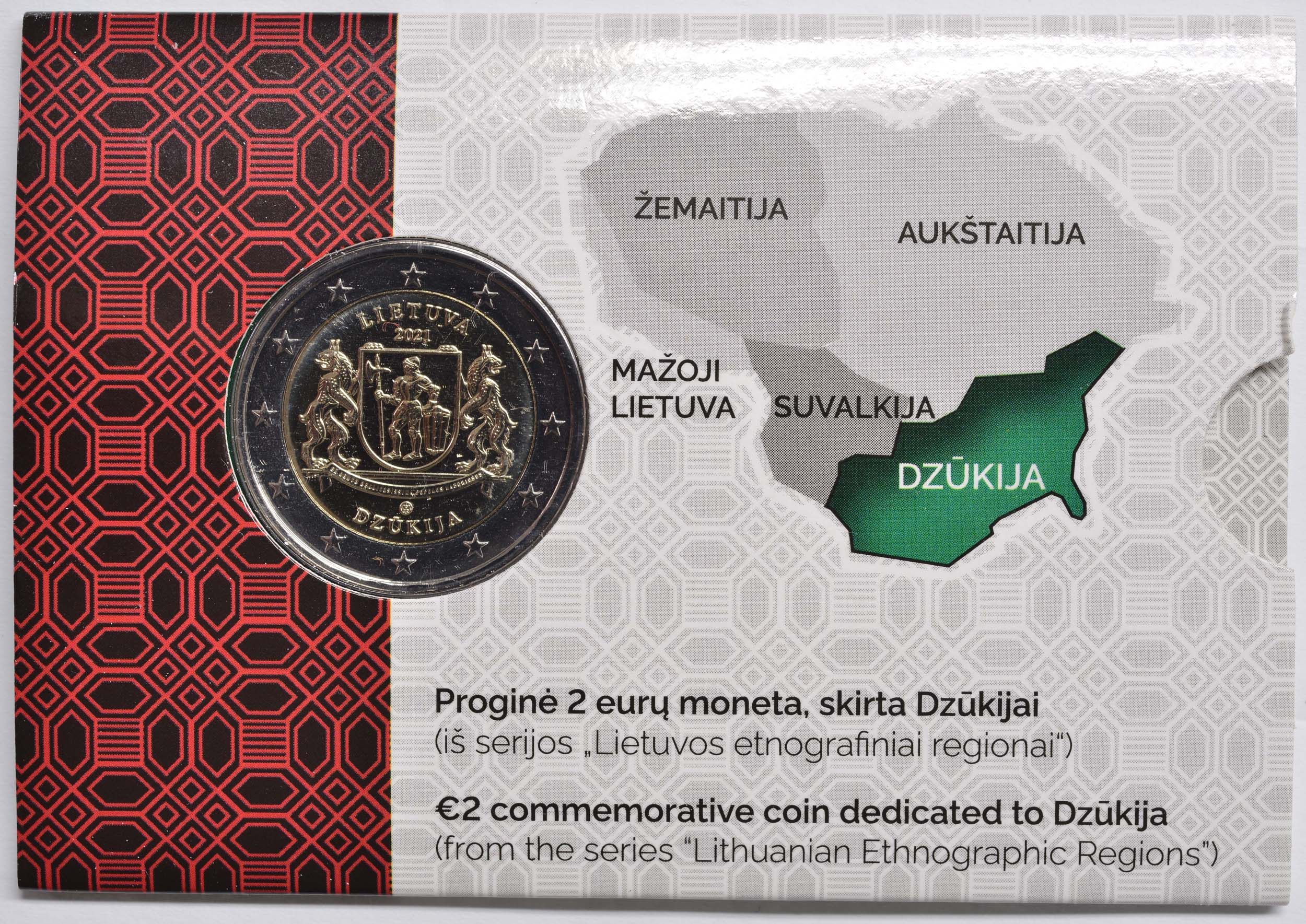 Lieferumfang:Litauen : 2 Euro Dzukija  2021 Stgl.