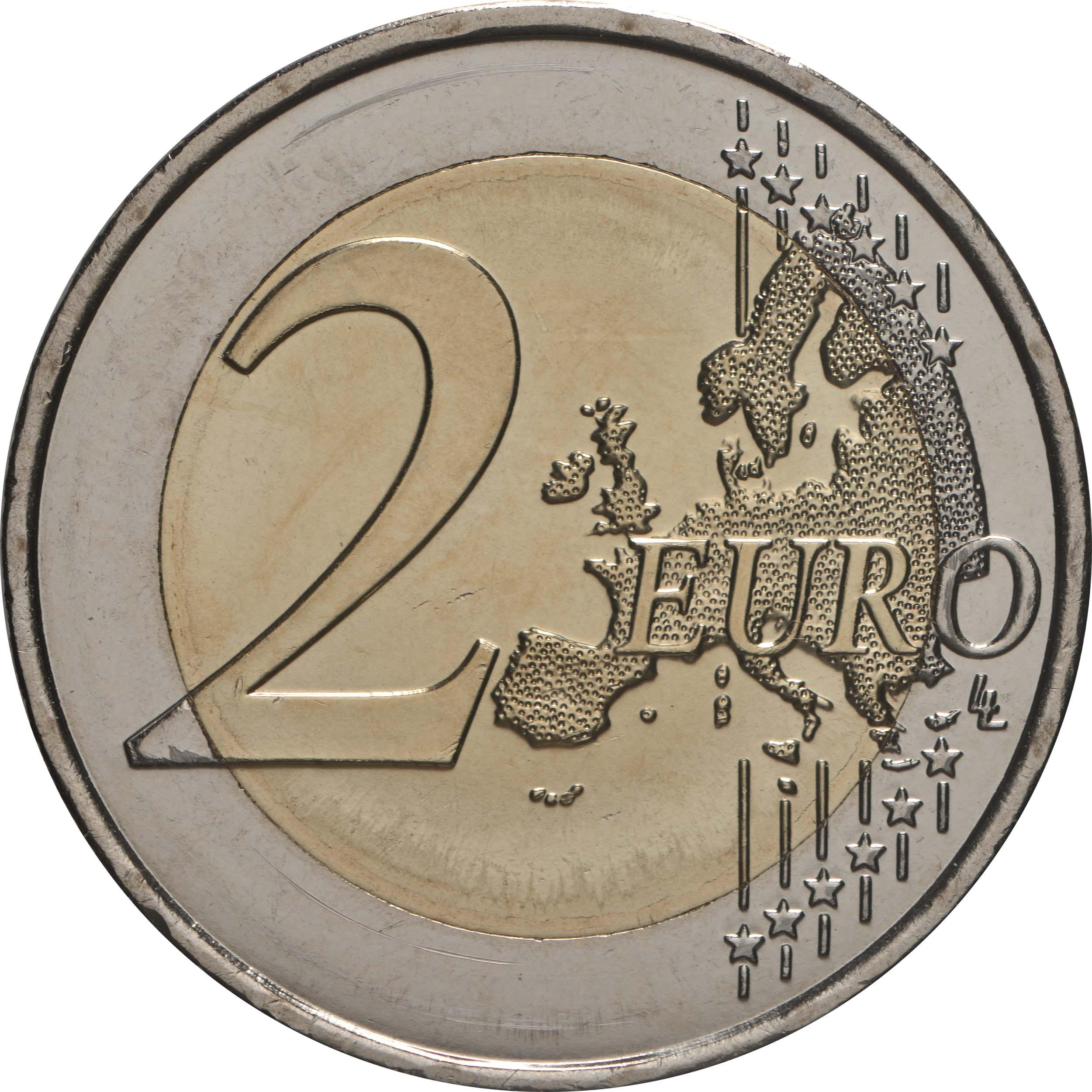 Vorderseite:Frankreich : 2 Euro 75 Jahre UNICEF  2021 bfr