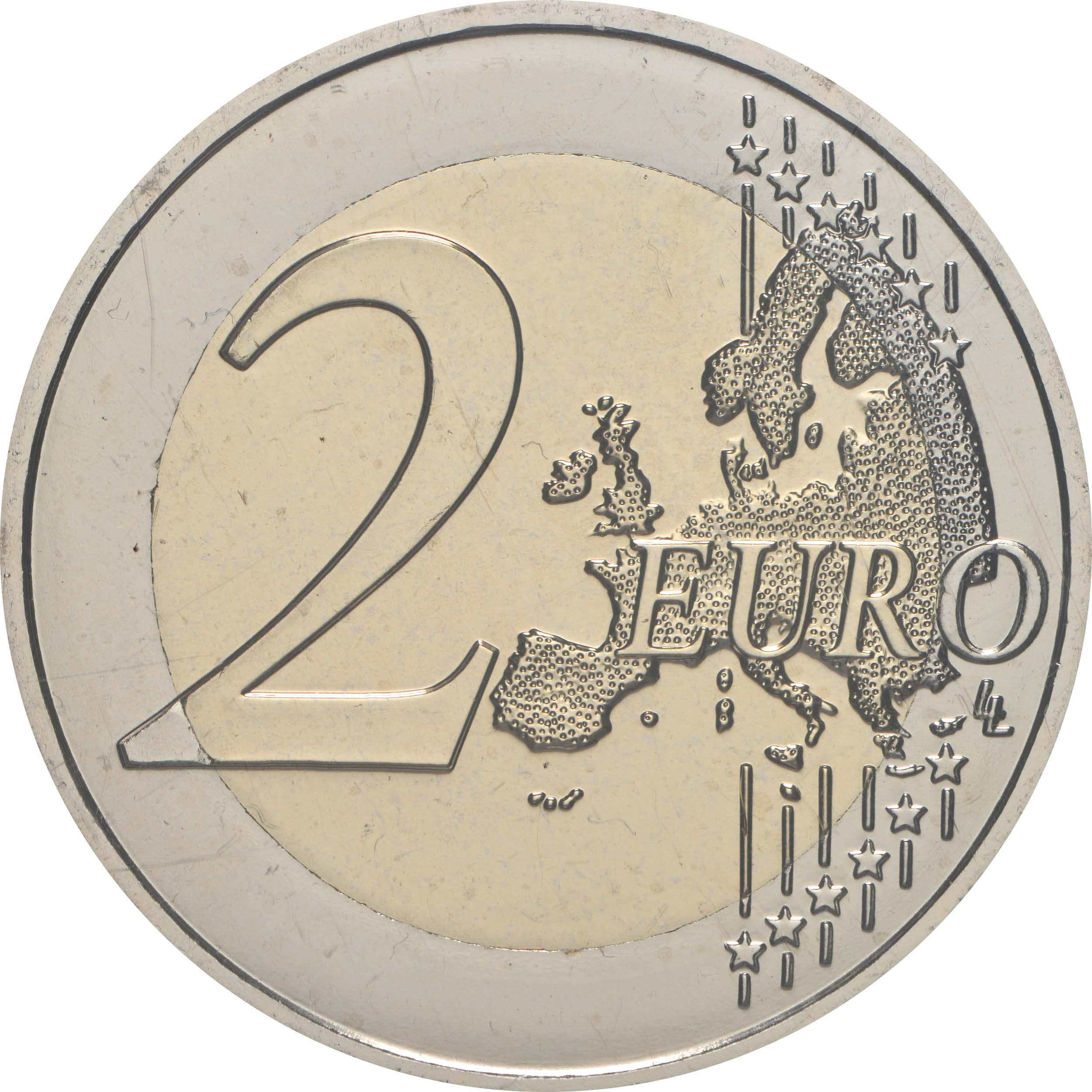 Vorderseite:Frankreich : 2 Euro 75 Jahre UNICEF  2021 Stgl.