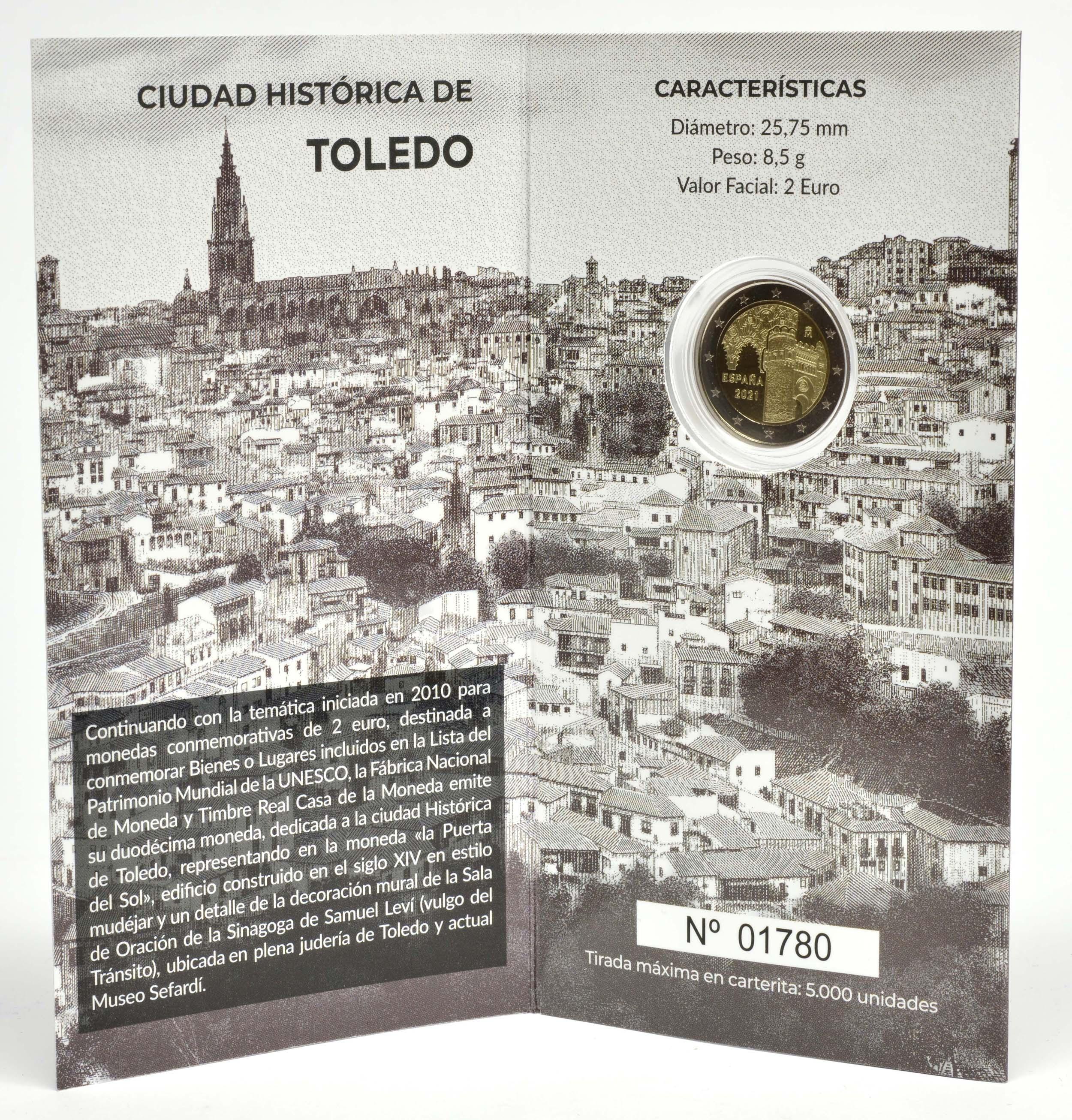 Lieferumfang:Spanien : 2 Euro Altstadt von Toledo  2021 PP