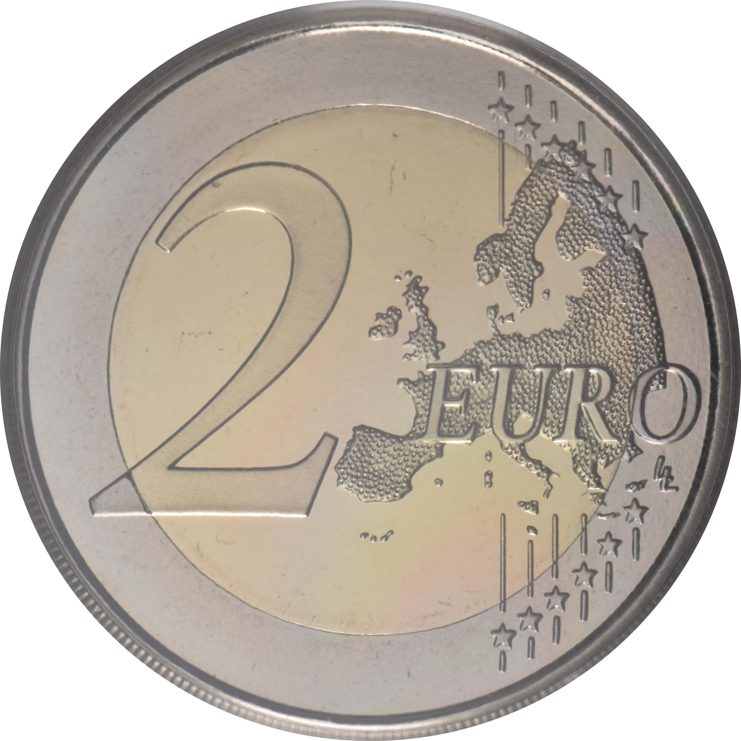 Vorderseite:Spanien : 2 Euro Altstadt von Toledo  2021 PP