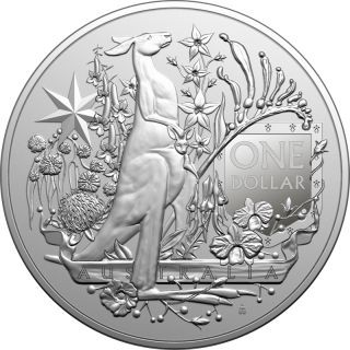 Lieferumfang:Australien : 1 Dollar Australia´s Coat of Arms - Bullion 1 oz  2021 Stgl.