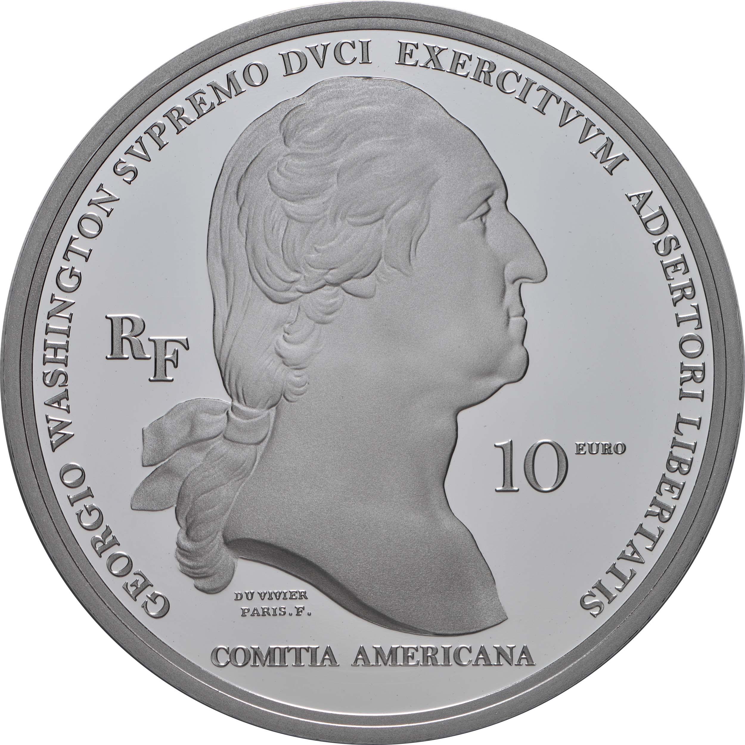 Rückseite:Frankreich : 10 Euro Washington  2021 PP