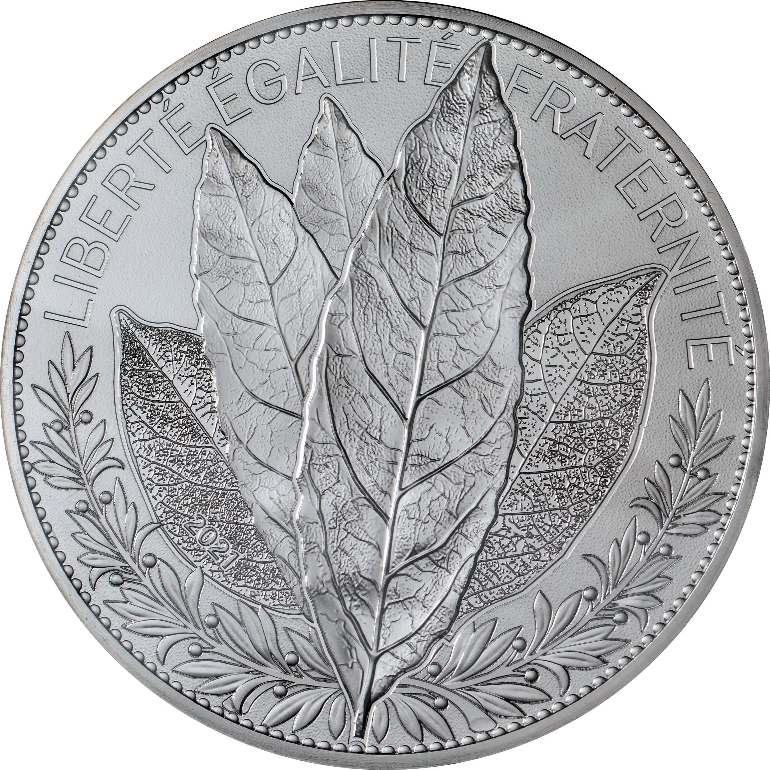 Vorderseite:Frankreich : 100 Euro Lorbeer  2021 Stgl.