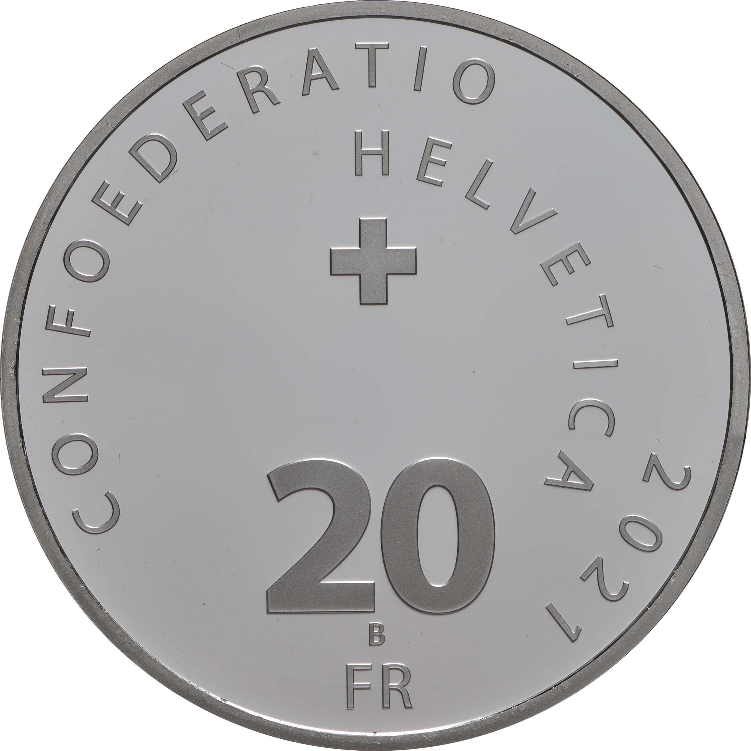 Rückseite:Schweiz : 20 Franken Illusion-Viadukt des Lebens  2021 PP