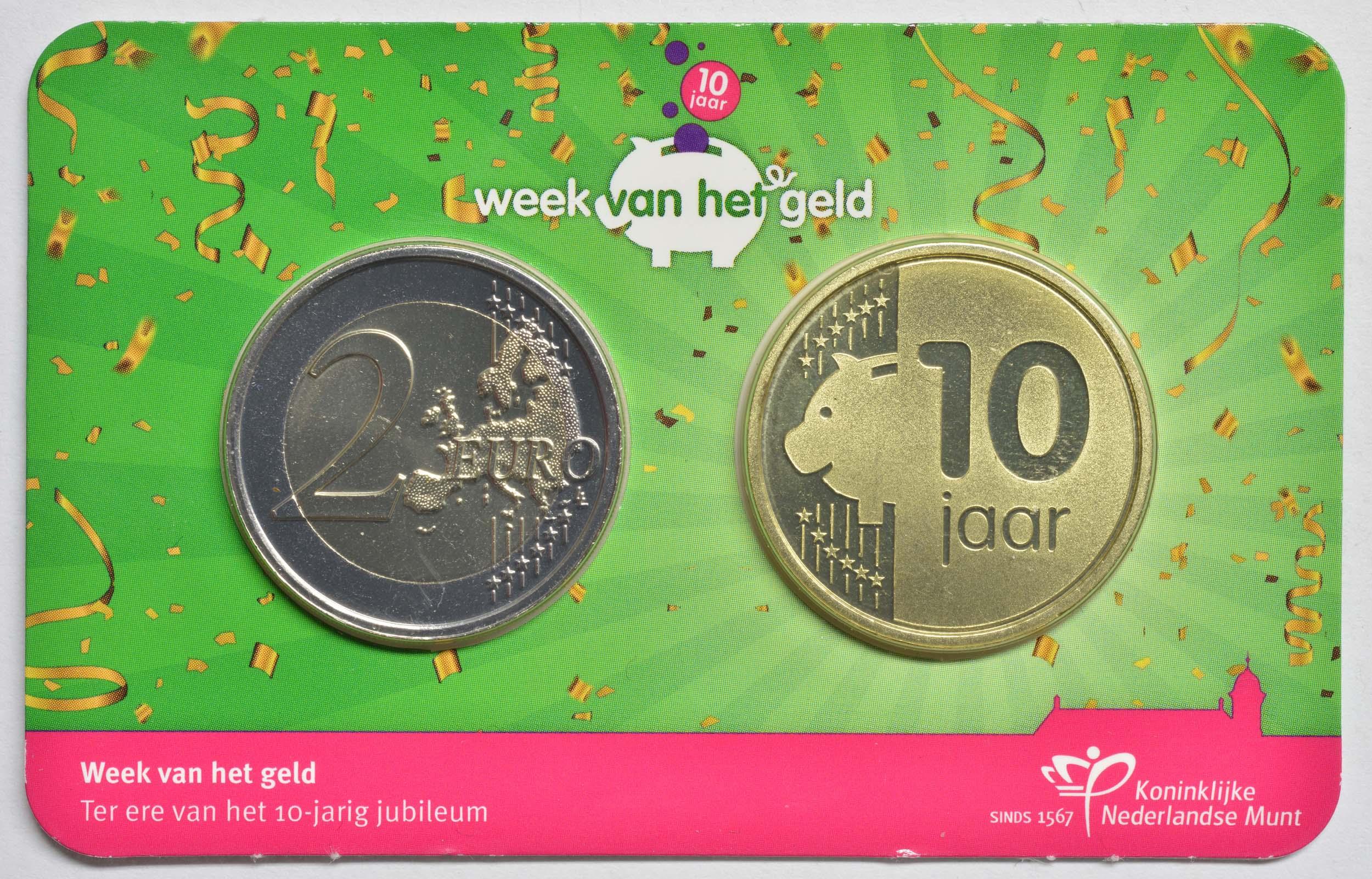 Lieferumfang:Niederlande : 2 Euro Kursmünze, 10 Jahre Woche des Geldes 2021   2021 Stgl.