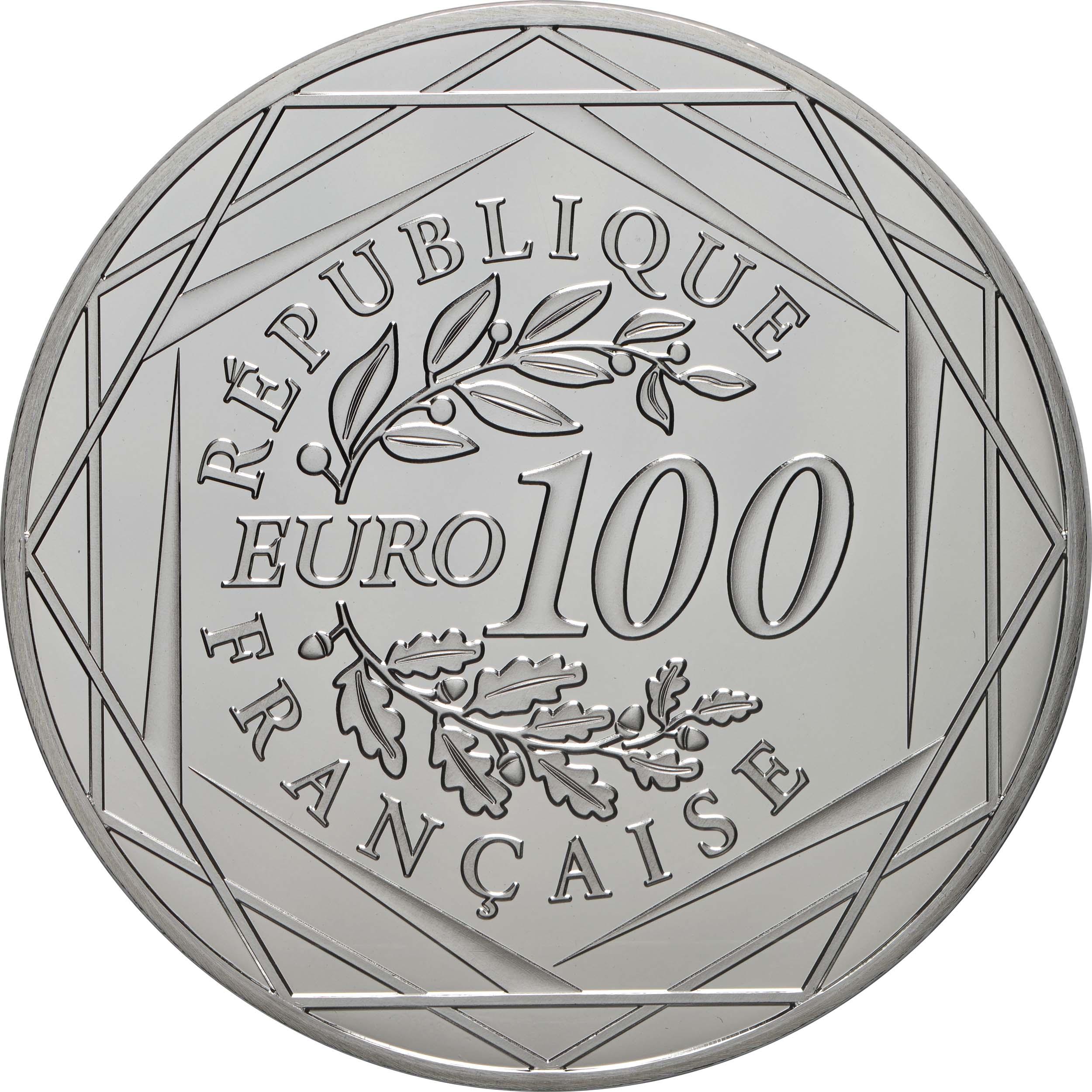 Rückseite:Frankreich : 100 Euro Napoleon  2021 Stgl.
