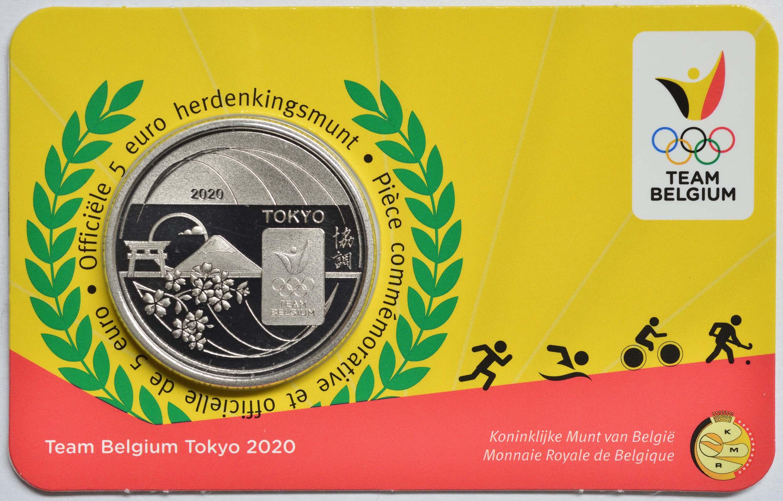 Lieferumfang:Belgien : 5 Euro Team Belgien  2021 Stgl.