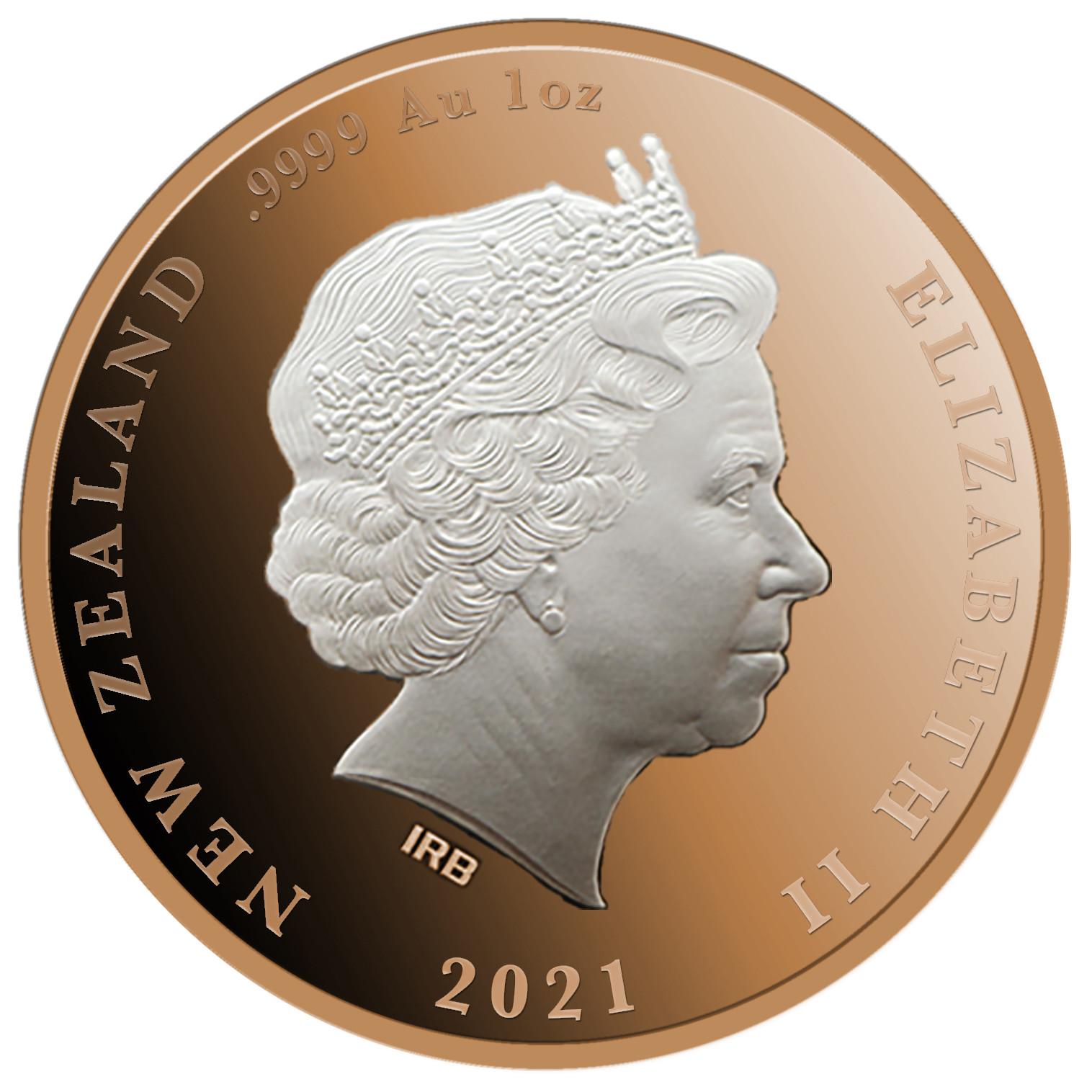 Vorderseite:Neuseeland : 10 Dollar Königin Elizabeth II 95. Geburtstag  2021 PP