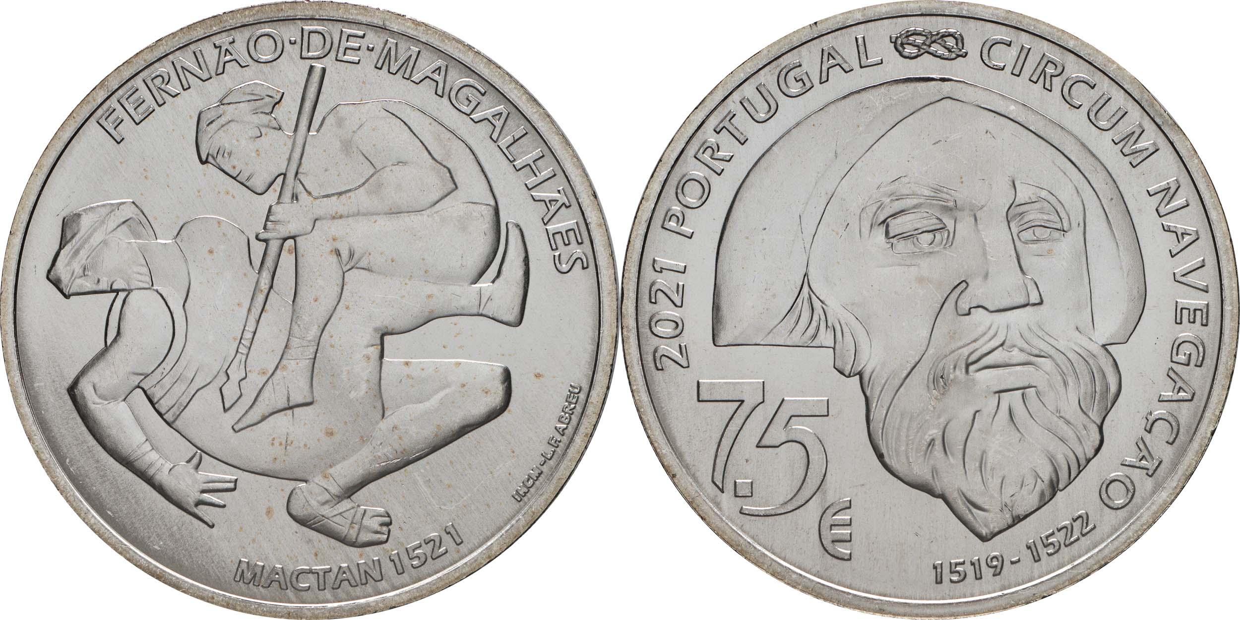 Lieferumfang:Portugal : 7,5 Euro 1521 Mactan  2021 bfr