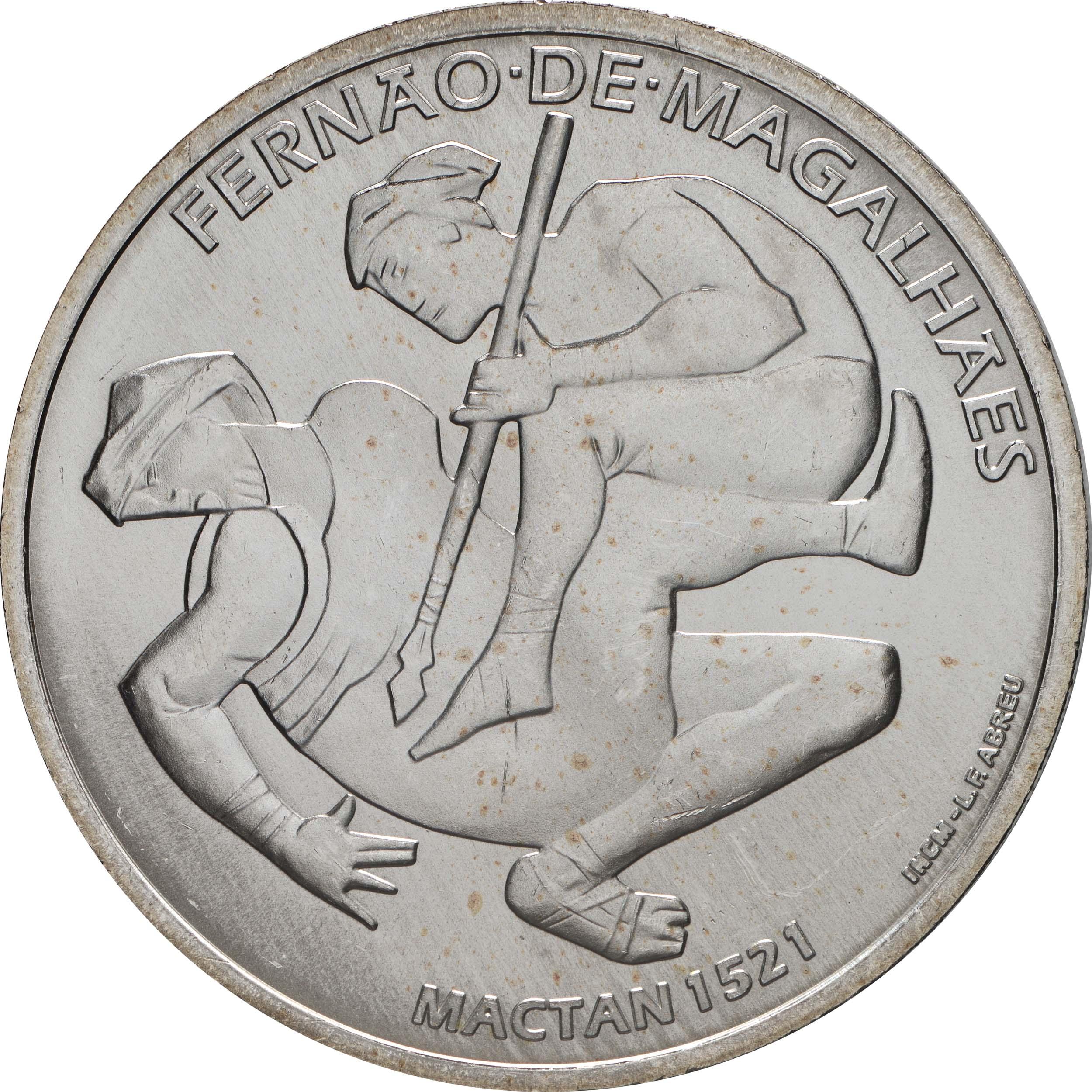 Vorderseite:Portugal : 7,5 Euro 1521 Mactan  2021 bfr
