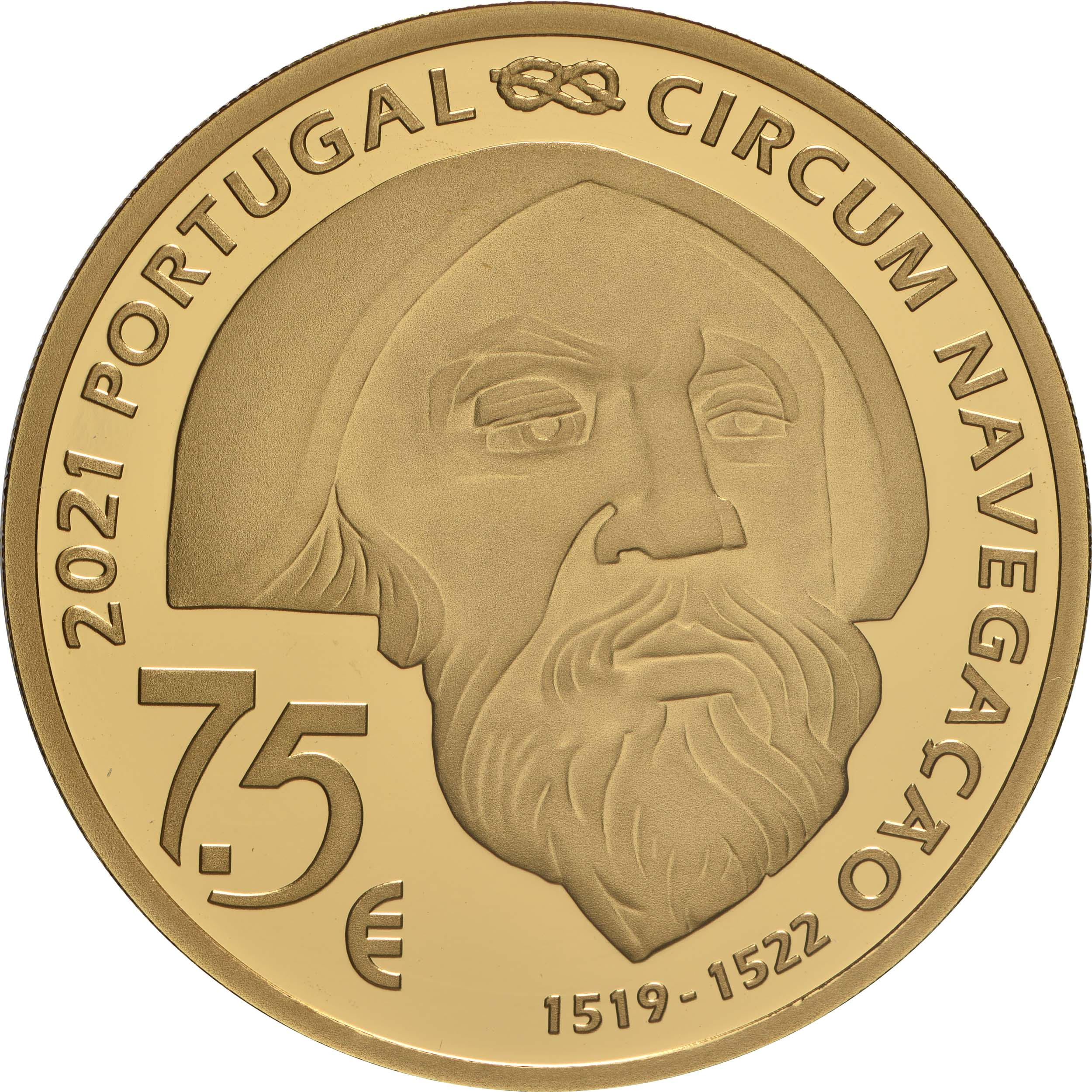 Rückseite:Portugal : 7,5 Euro 1521 Mactan  2021 PP