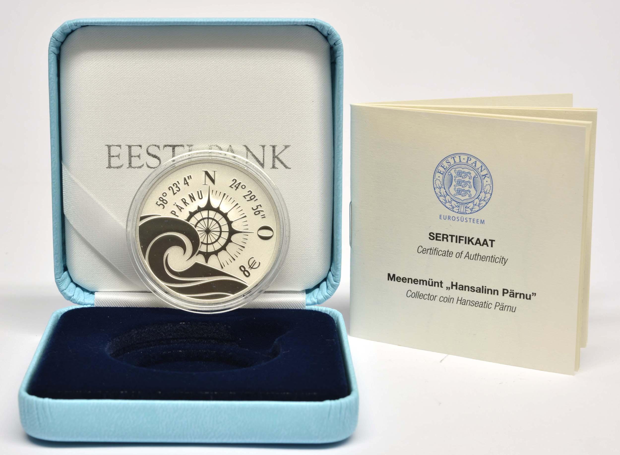 Lieferumfang:Estland : 8 Euro Hansestadt Parnu  2021 PP