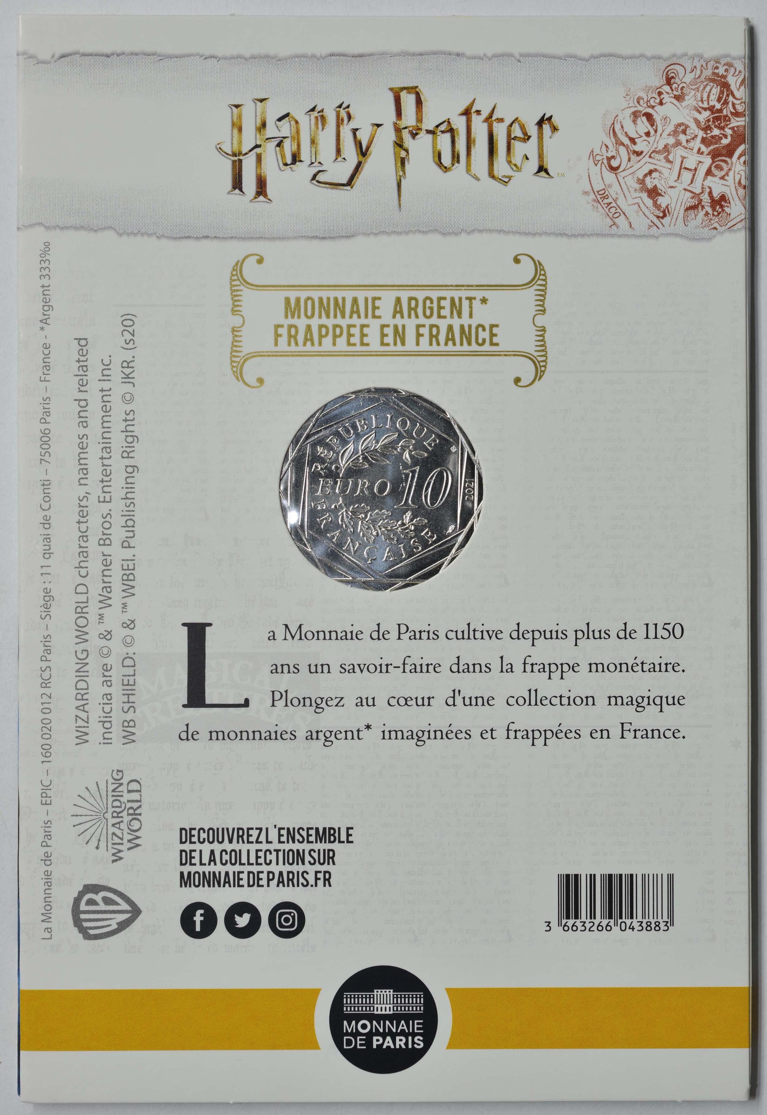 Zertifikat:Frankreich : 10 Euro Der Stein der Weisen 1/18  2021 Stgl.