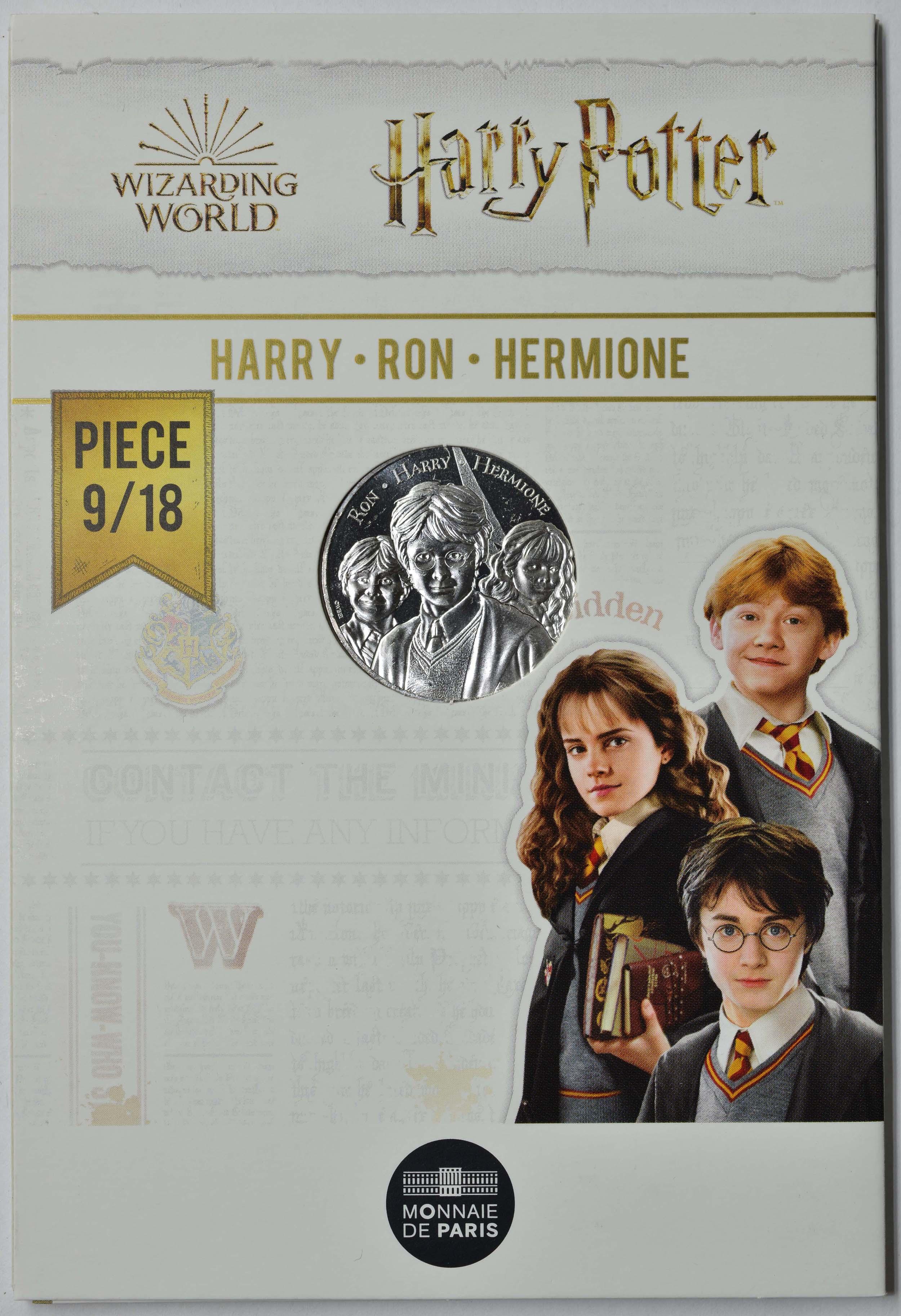 Lieferumfang:Frankreich : 10 Euro Ron, Harry & Hermione 9/18  2021 Stgl.