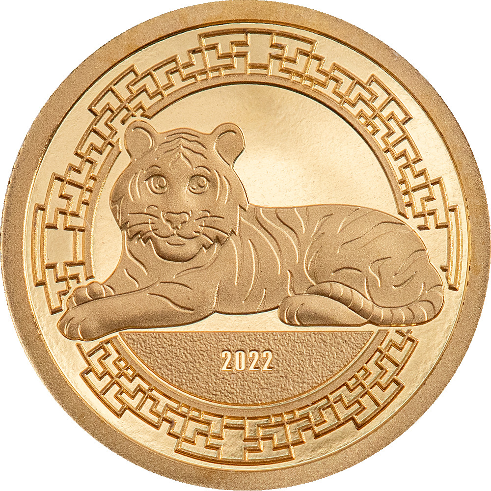 Lieferumfang:Mongolei : 1000 T Jahr des Tigers  2022 PP