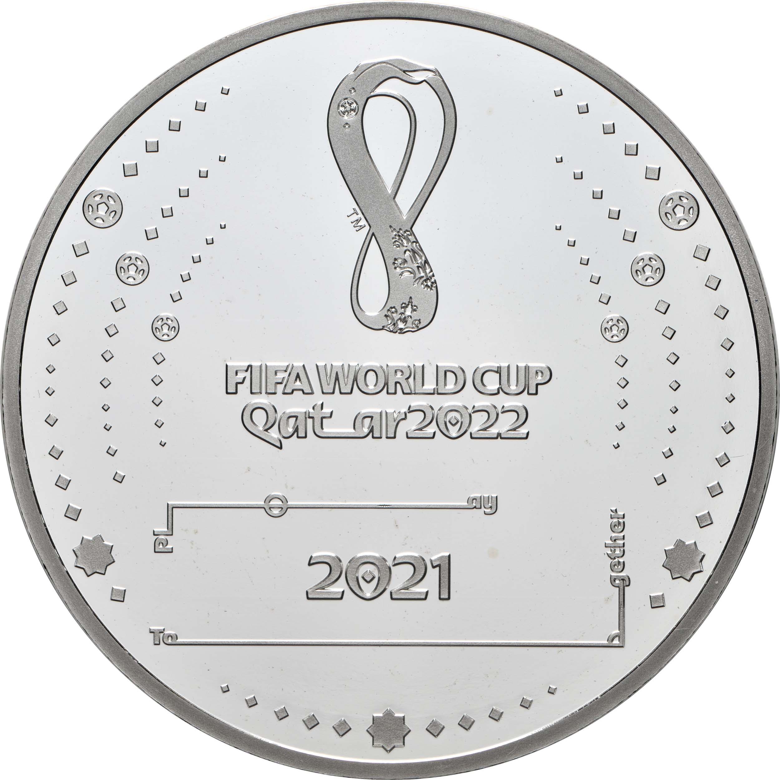 Vorderseite:Frankreich : 10 Euro Fussball-WM in Quatar 2022  2021 PP