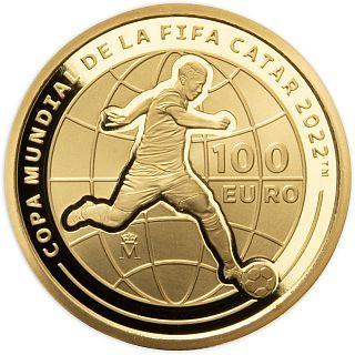 Lieferumfang:Spanien : 100 Euro FIFA - Fußball WM Quatar 2022  2021 PP