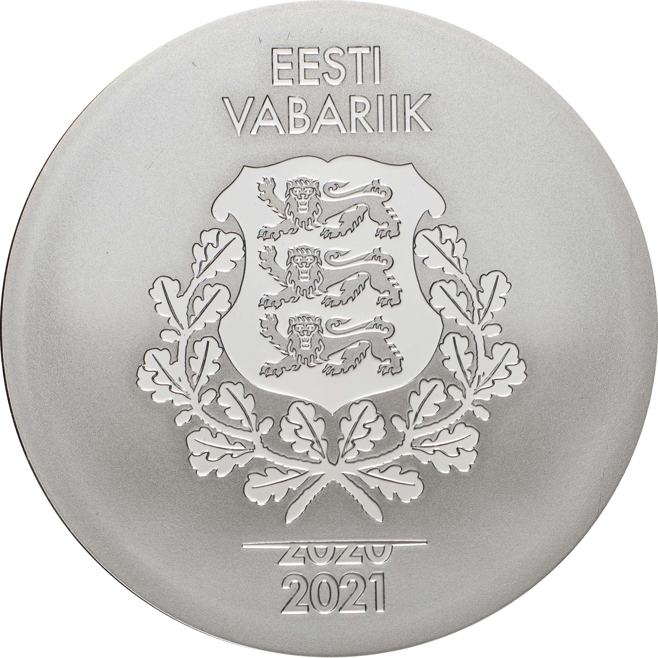 Rückseite:Estland : 8 Euro Team Estland  2021 PP