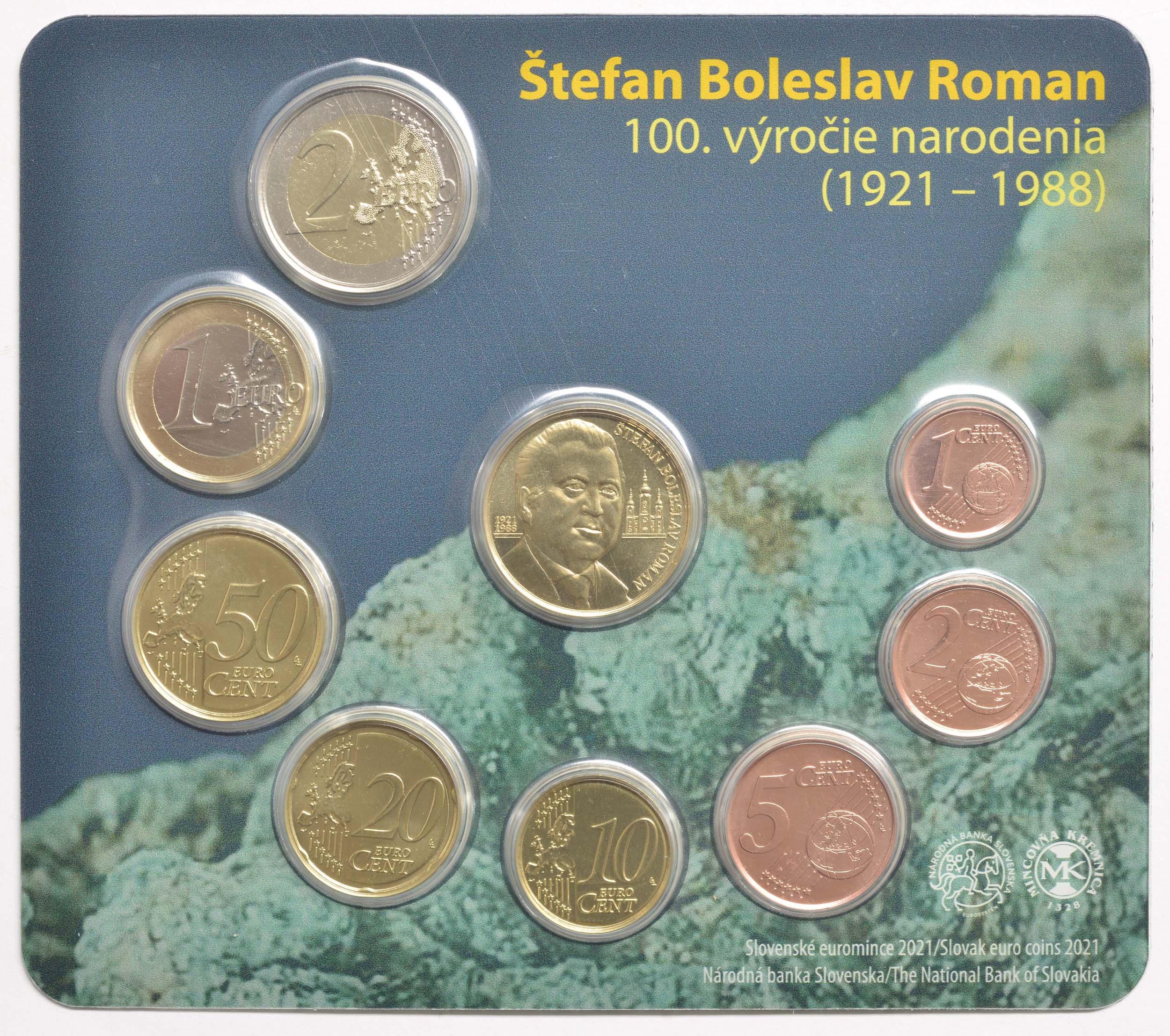 Vorderseite:Slowakei : 3,88 Euro KMS Stefan Boleslav Roman Ingenieur  2021 Stgl.
