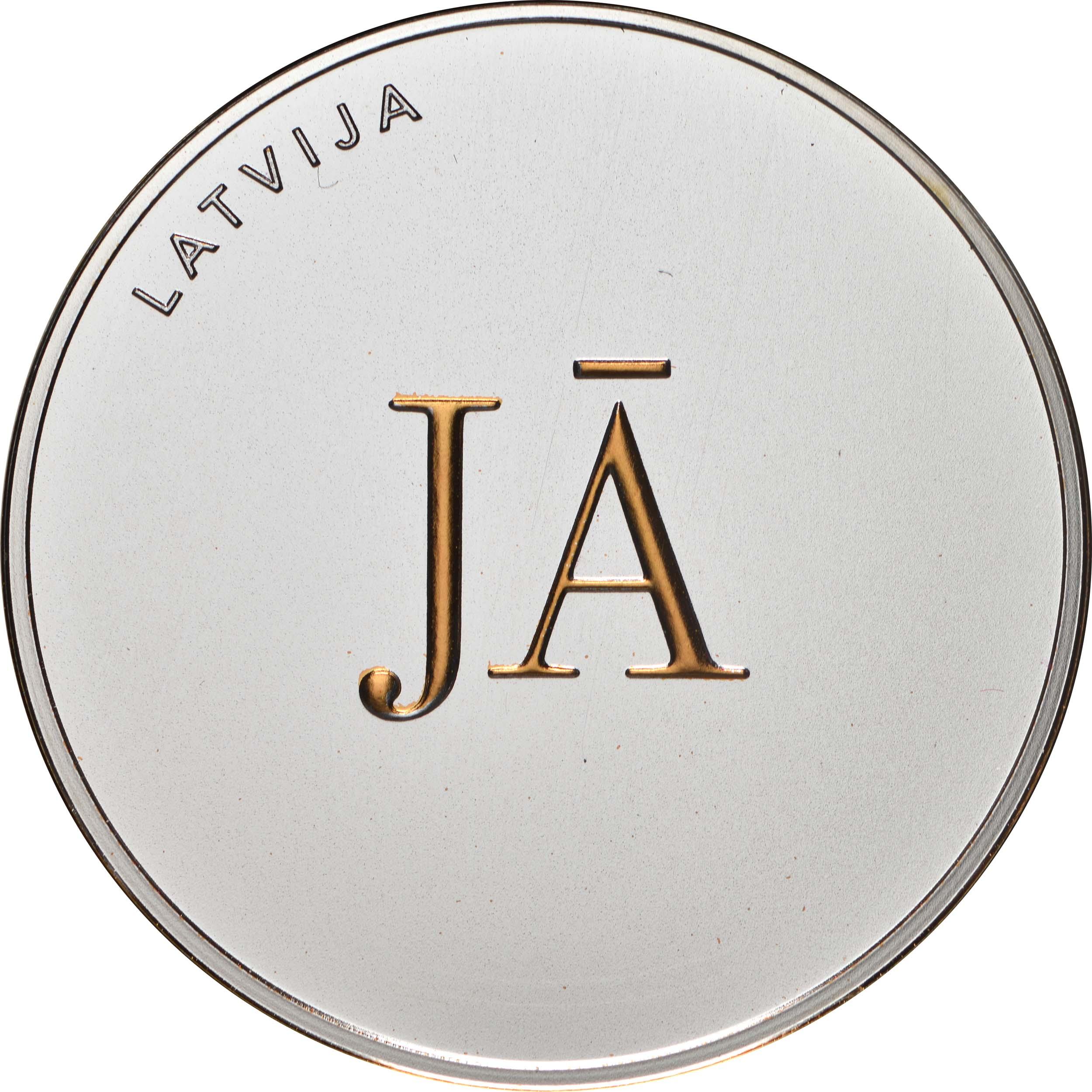 Vorderseite:Lettland : 5 Euro Ja oder Ja  2021 PP