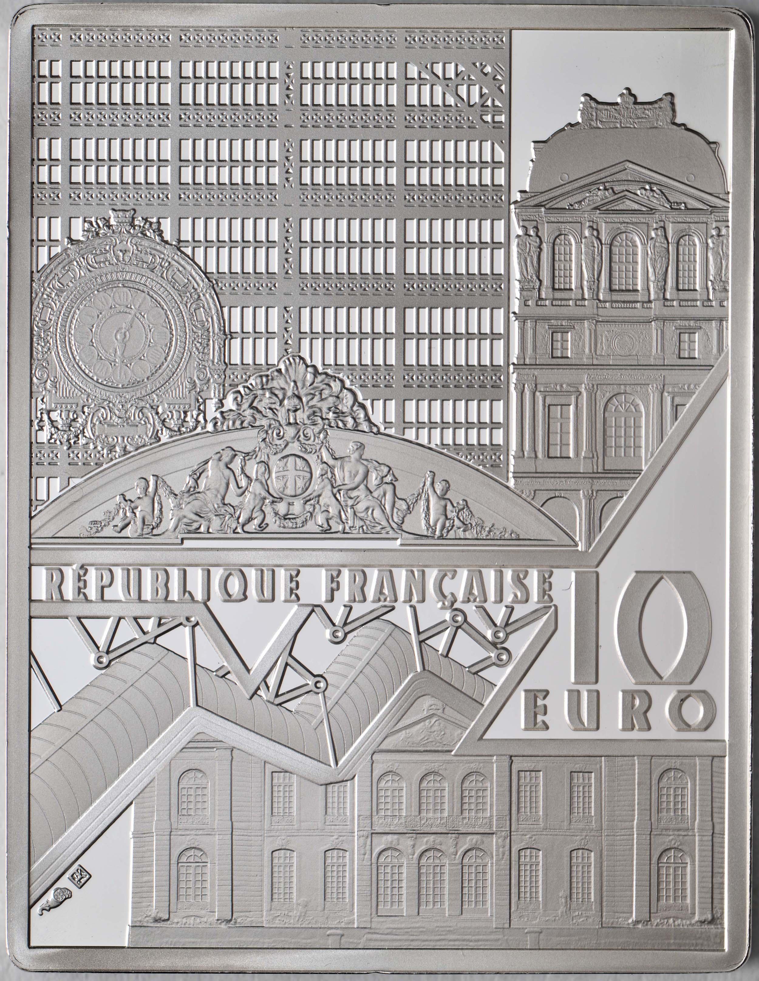 Rückseite:Frankreich : 10 Euro Johannes Vermeer  2021 PP