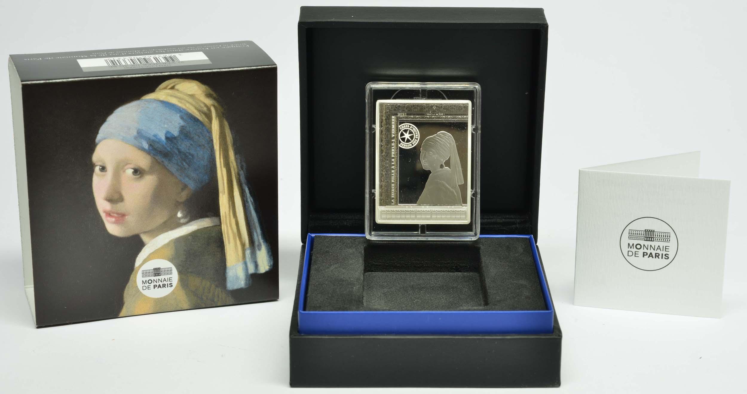Lieferumfang:Frankreich : 10 Euro Johannes Vermeer  2021 PP