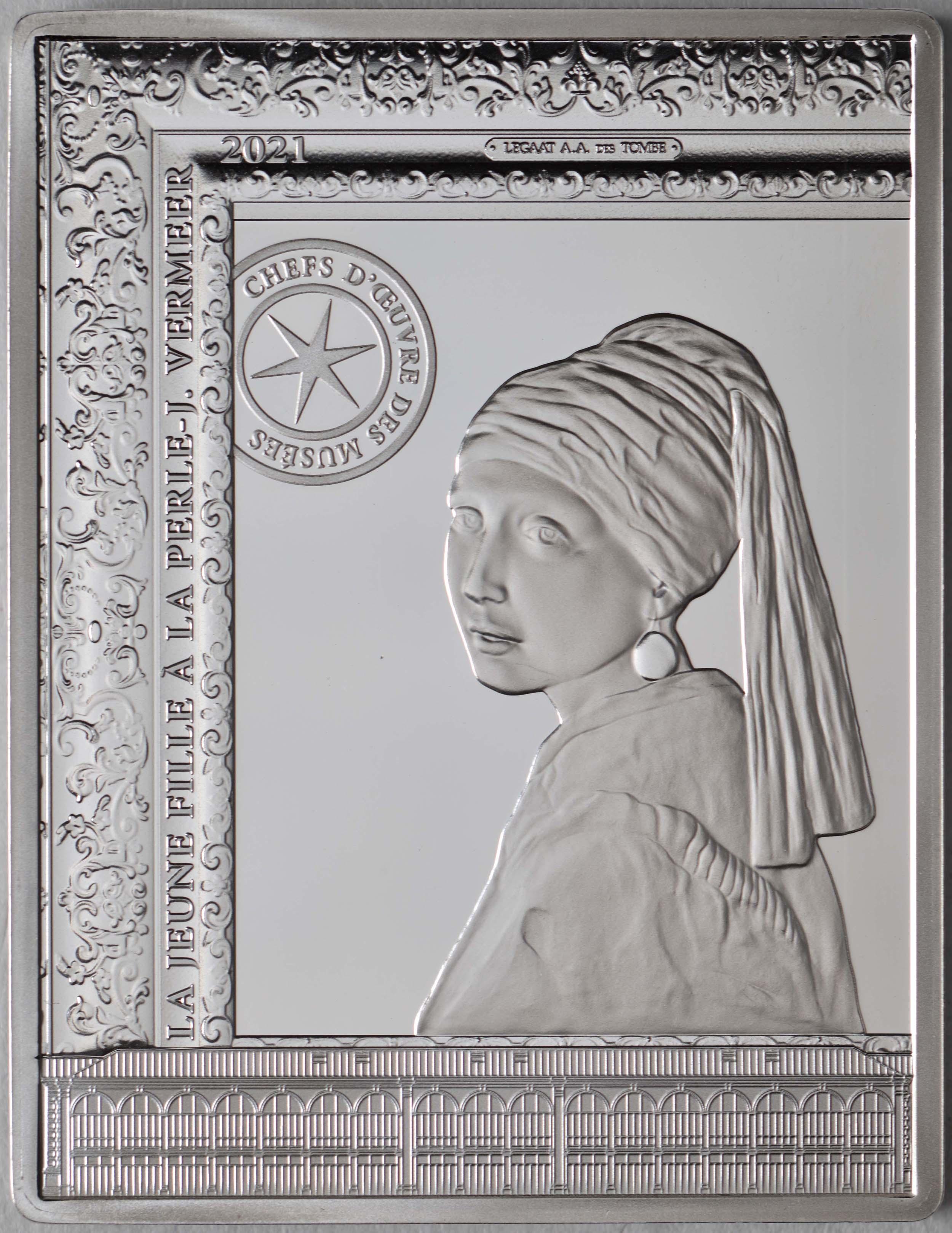 Vorderseite:Frankreich : 10 Euro Johannes Vermeer  2021 PP