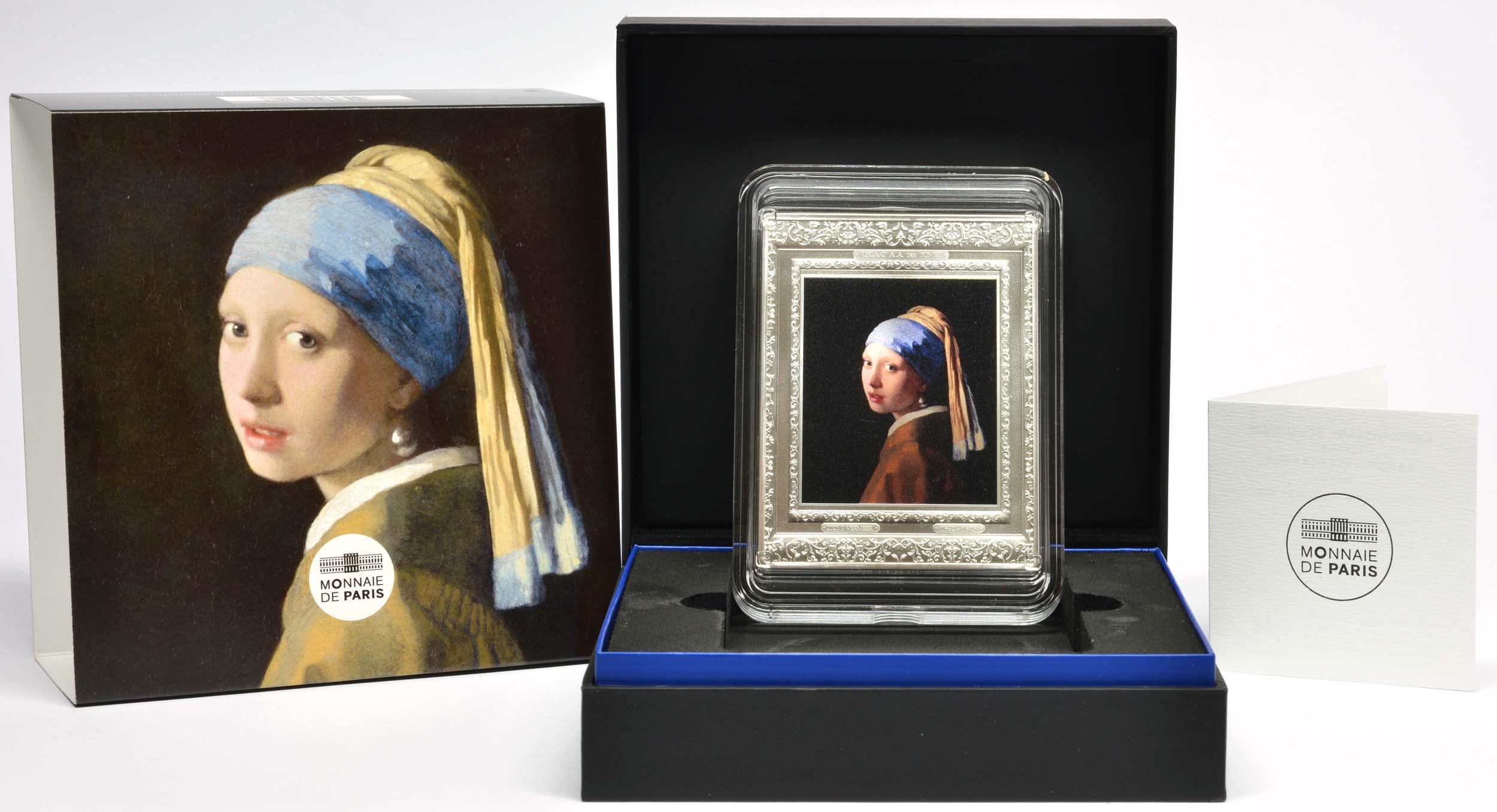 Lieferumfang:Frankreich : 250 Euro Johannes Vermeer  2021 PP