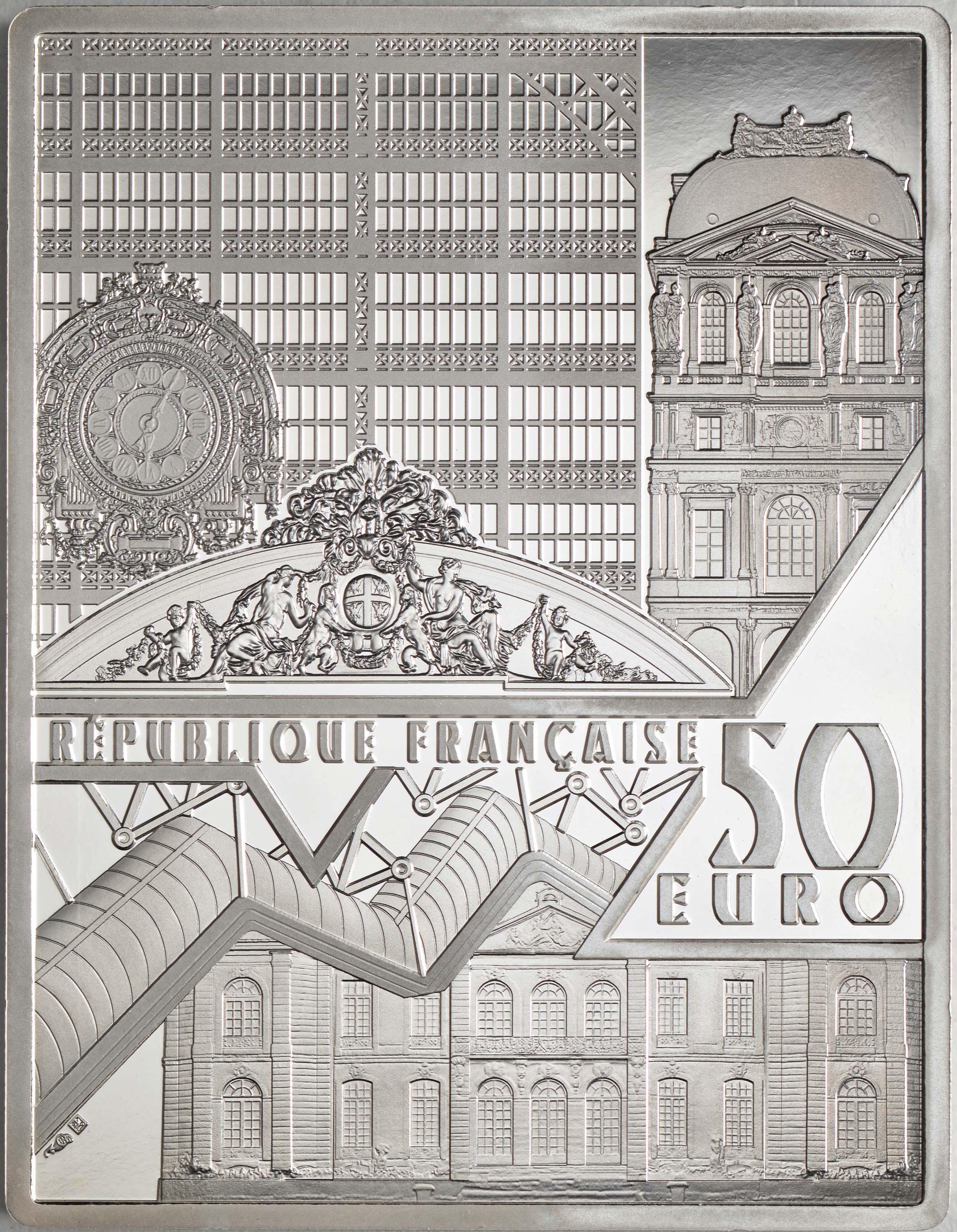 Rückseite:Frankreich : 50 Euro Johannes Vermeer  2021 PP