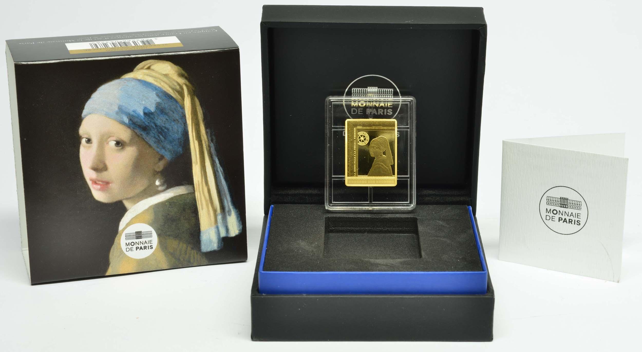 Lieferumfang:Frankreich : 50 Euro Johannes Vermeer  2021 PP
