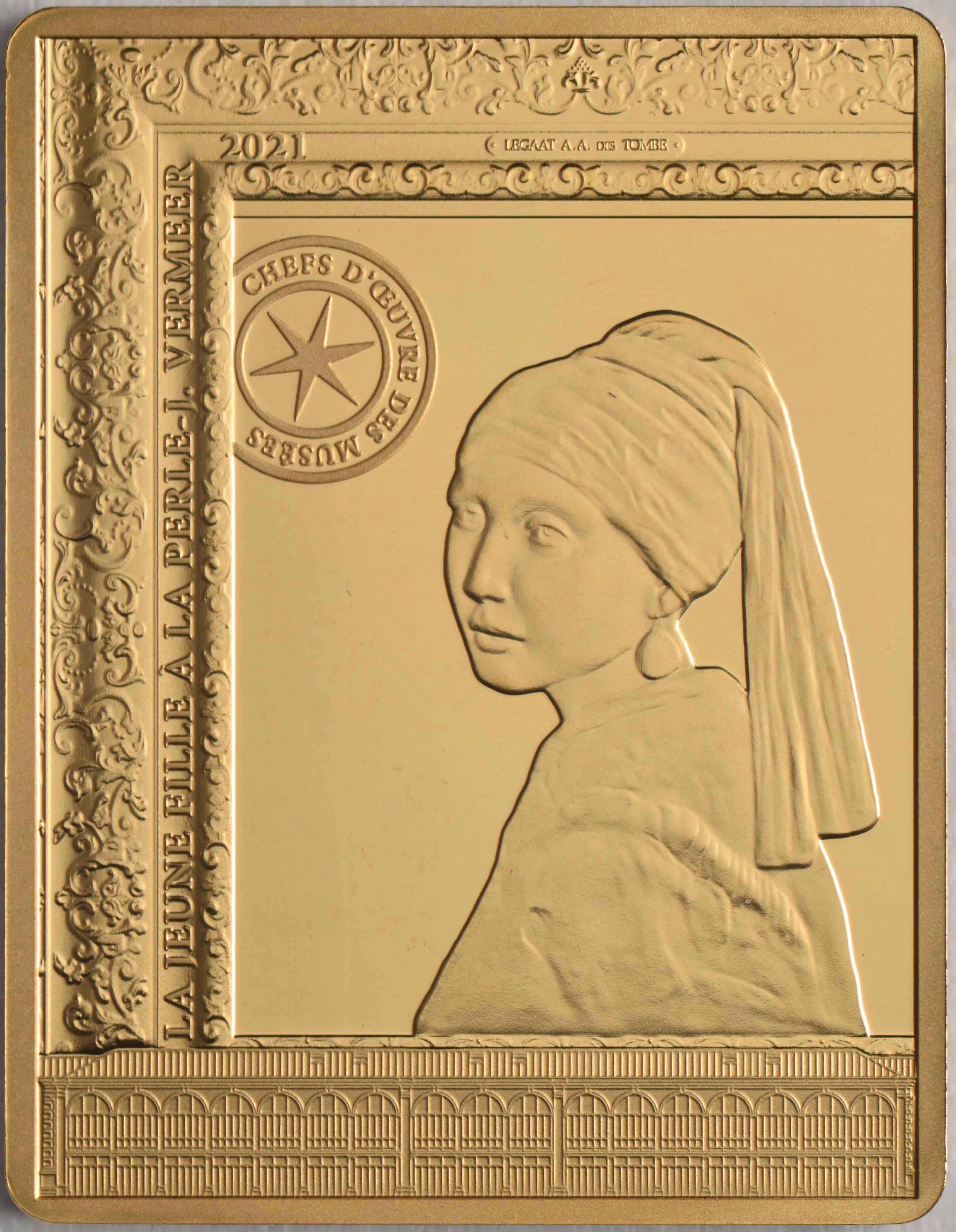 Vorderseite:Frankreich : 50 Euro Johannes Vermeer  2021 PP