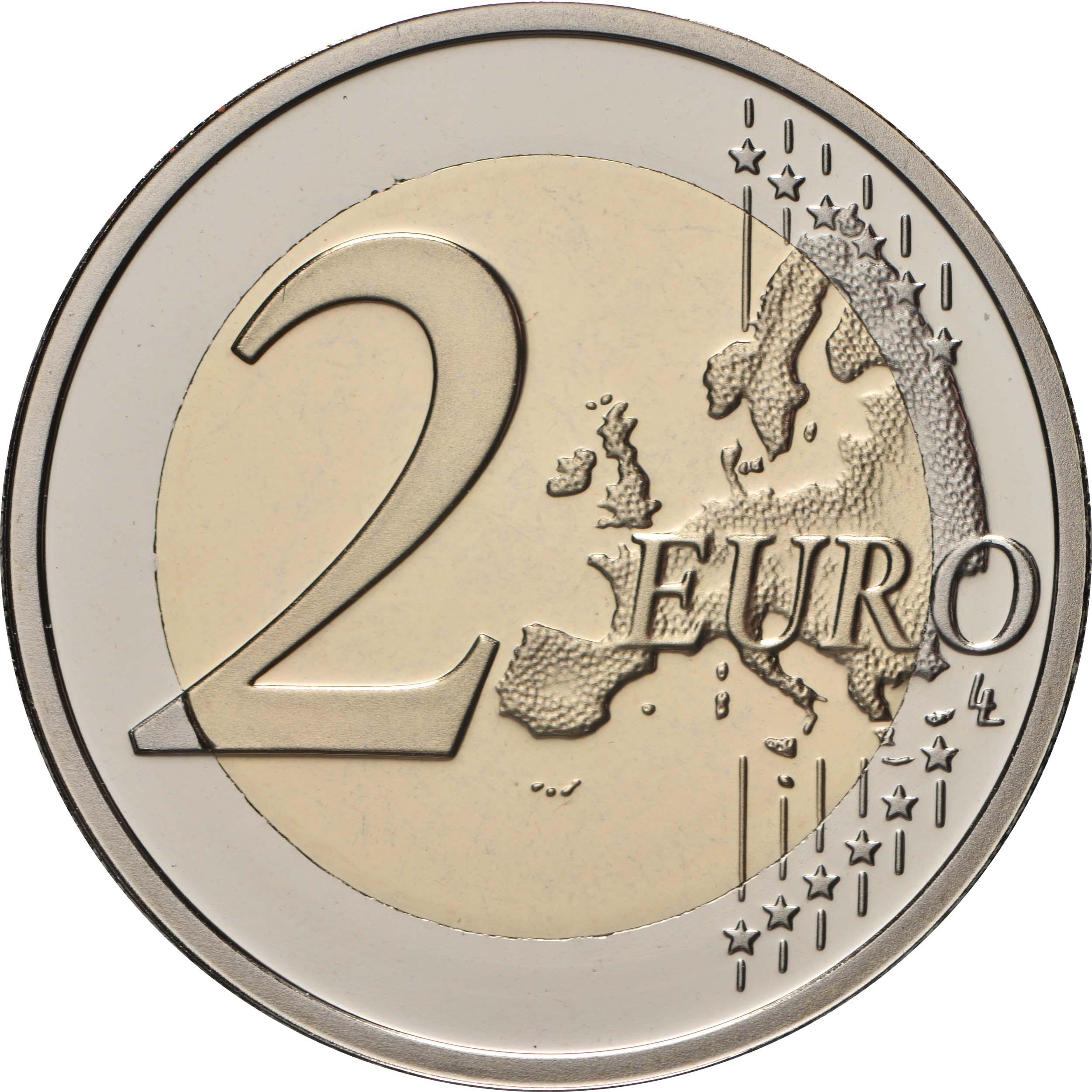Vorderseite:Belgien : 2 Euro 100. Jahrestag der Gründung der Belgisch-Luxemburgischen Wirtschaftsunion  2021 PP