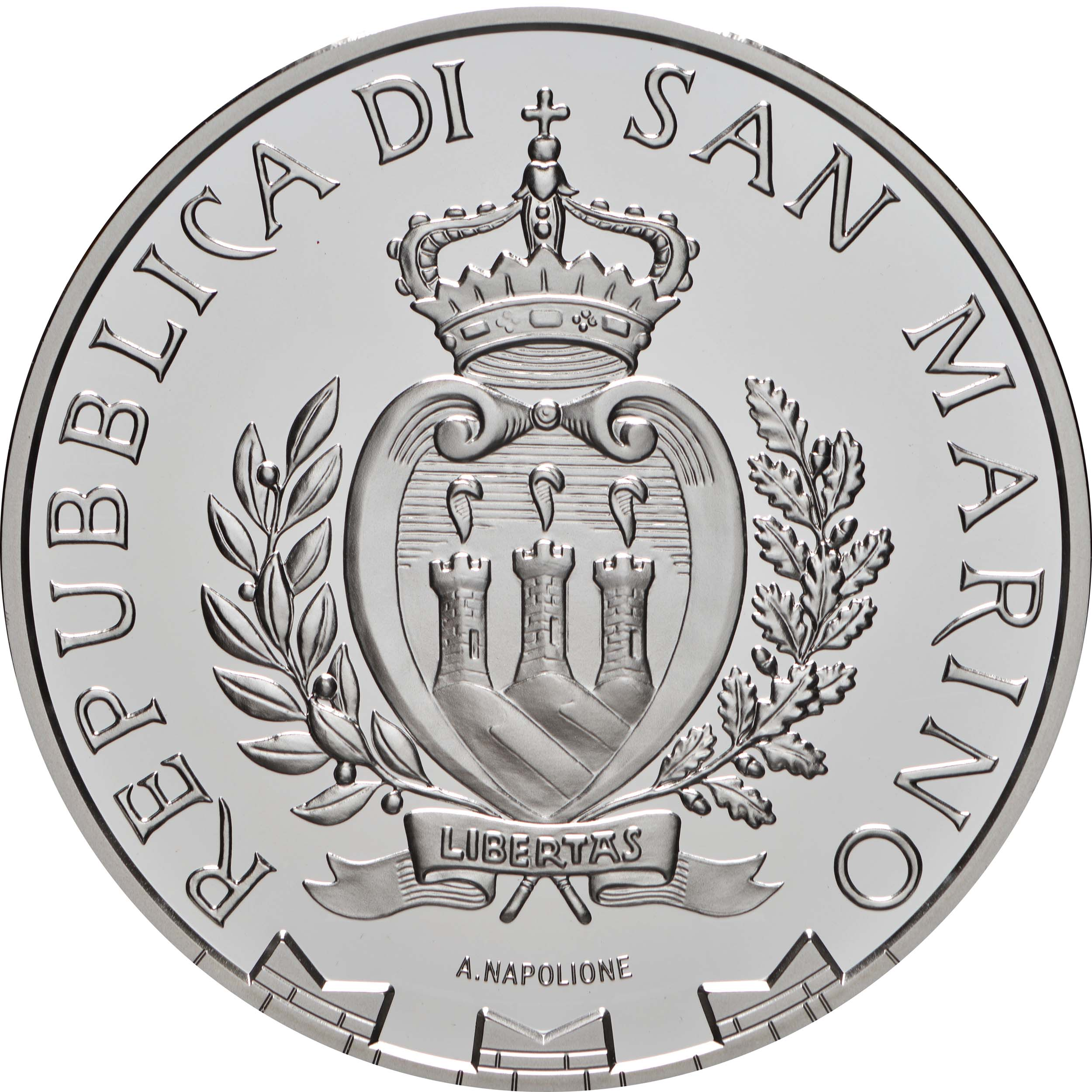 Rückseite:San Marino : 10 Euro Benvenuto Cellini  2021 PP