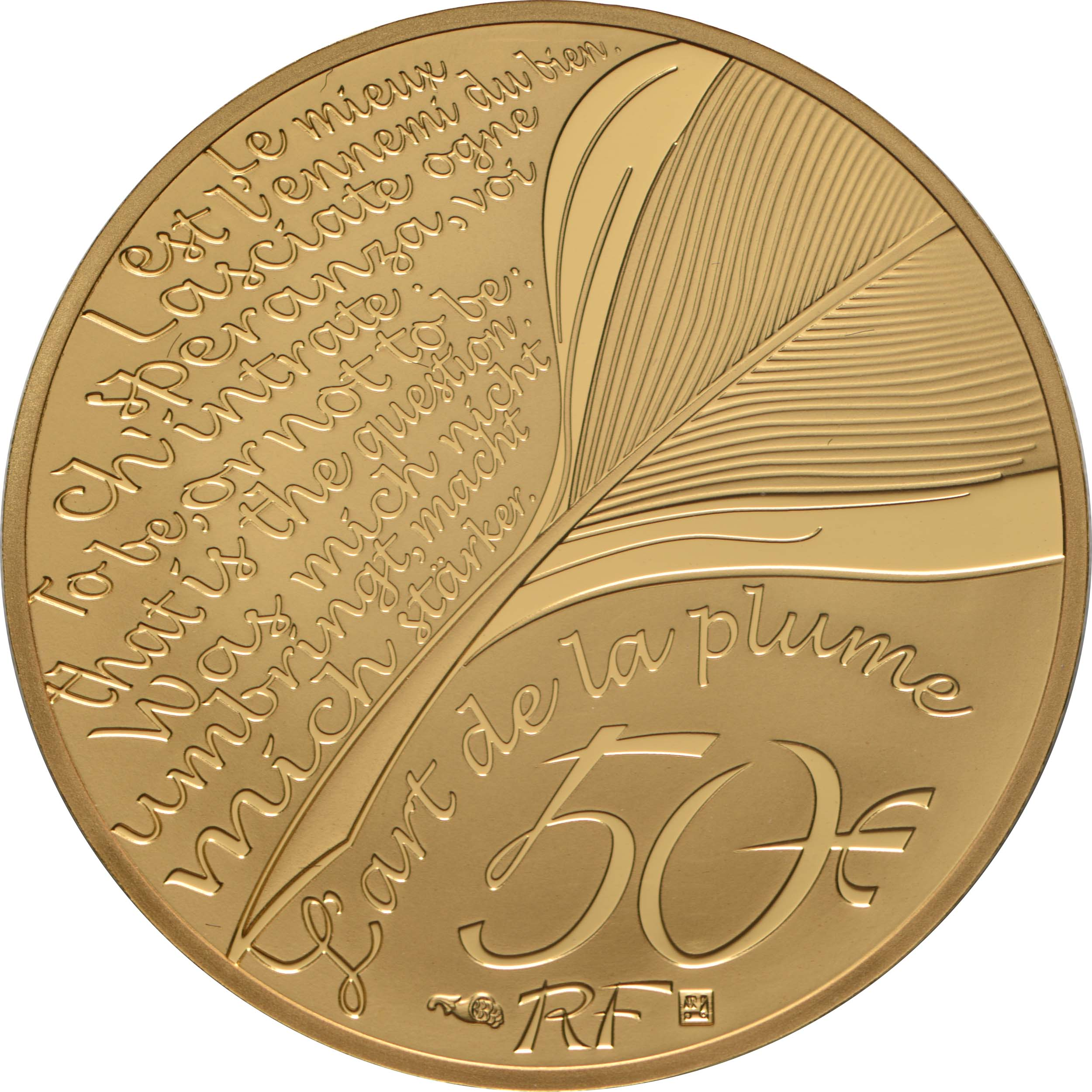 Rückseite:Frankreich : 50 Euro Dante Alighieri  2021 PP