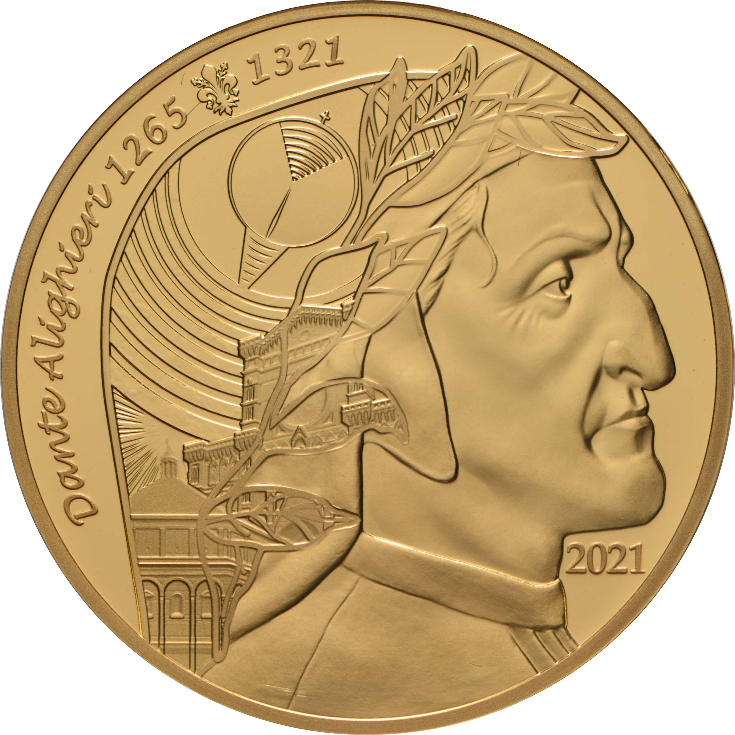Vorderseite:Frankreich : 50 Euro Dante Alighieri  2021 PP