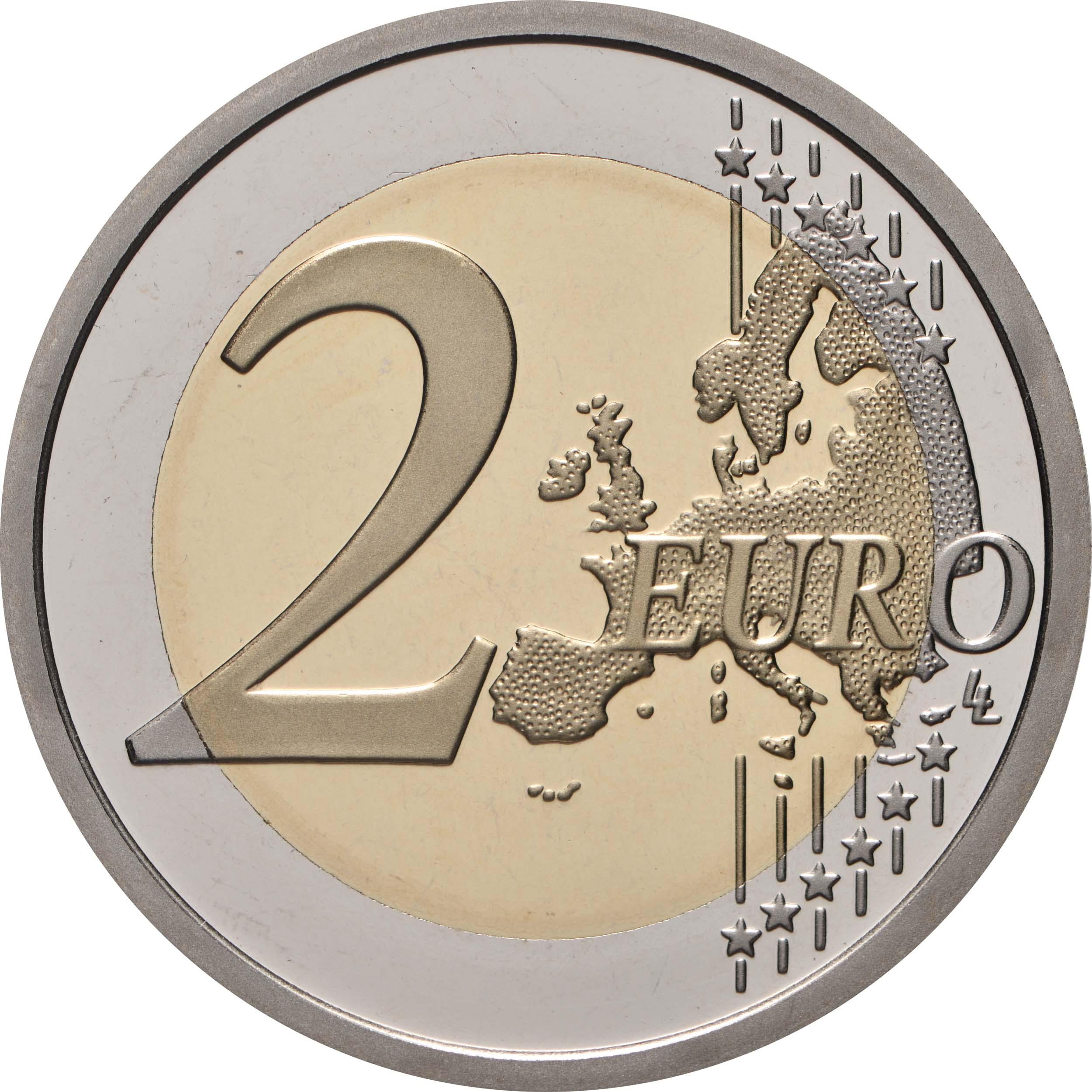Vorderseite:Vatikan : 2 Euro 450. Geburtstag von Caravaggio  2021 PP