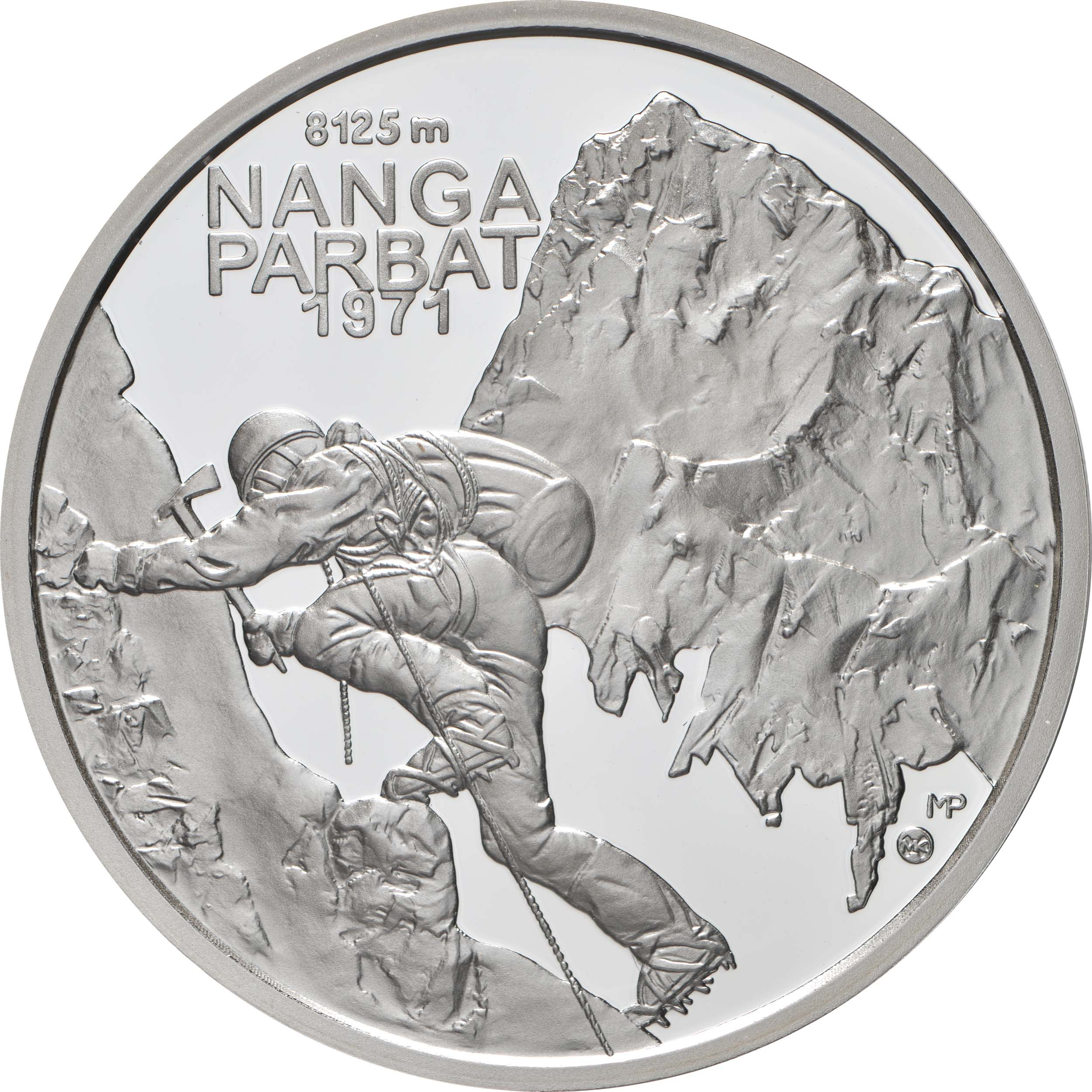 Vorderseite:Slowakei : 10 Euro 50 J. Slowak. Bergsteiger auf Nanga Parbat  2021 PP