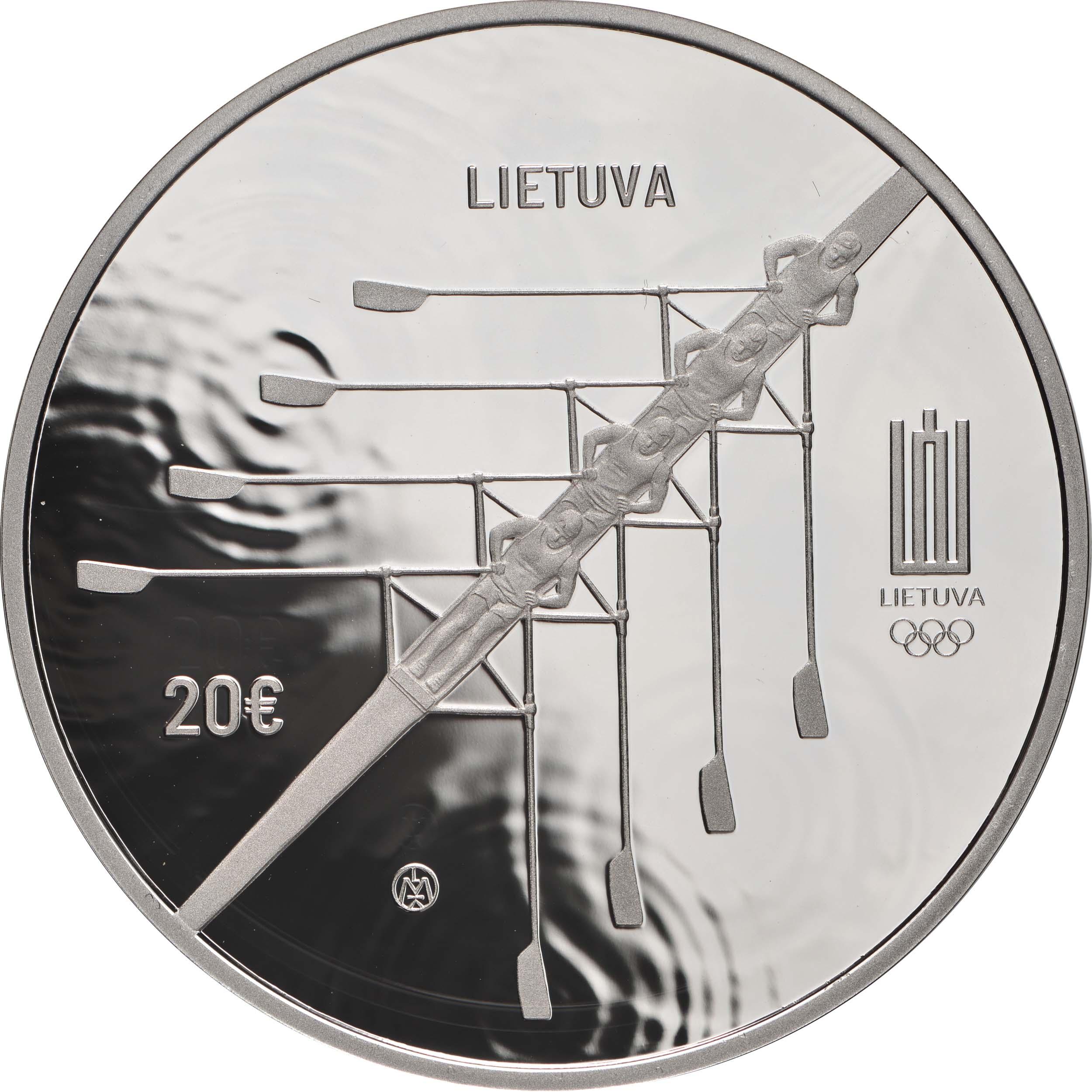 Rückseite:Litauen : 20 Euro Olympische Spiele Tokio  2021 PP