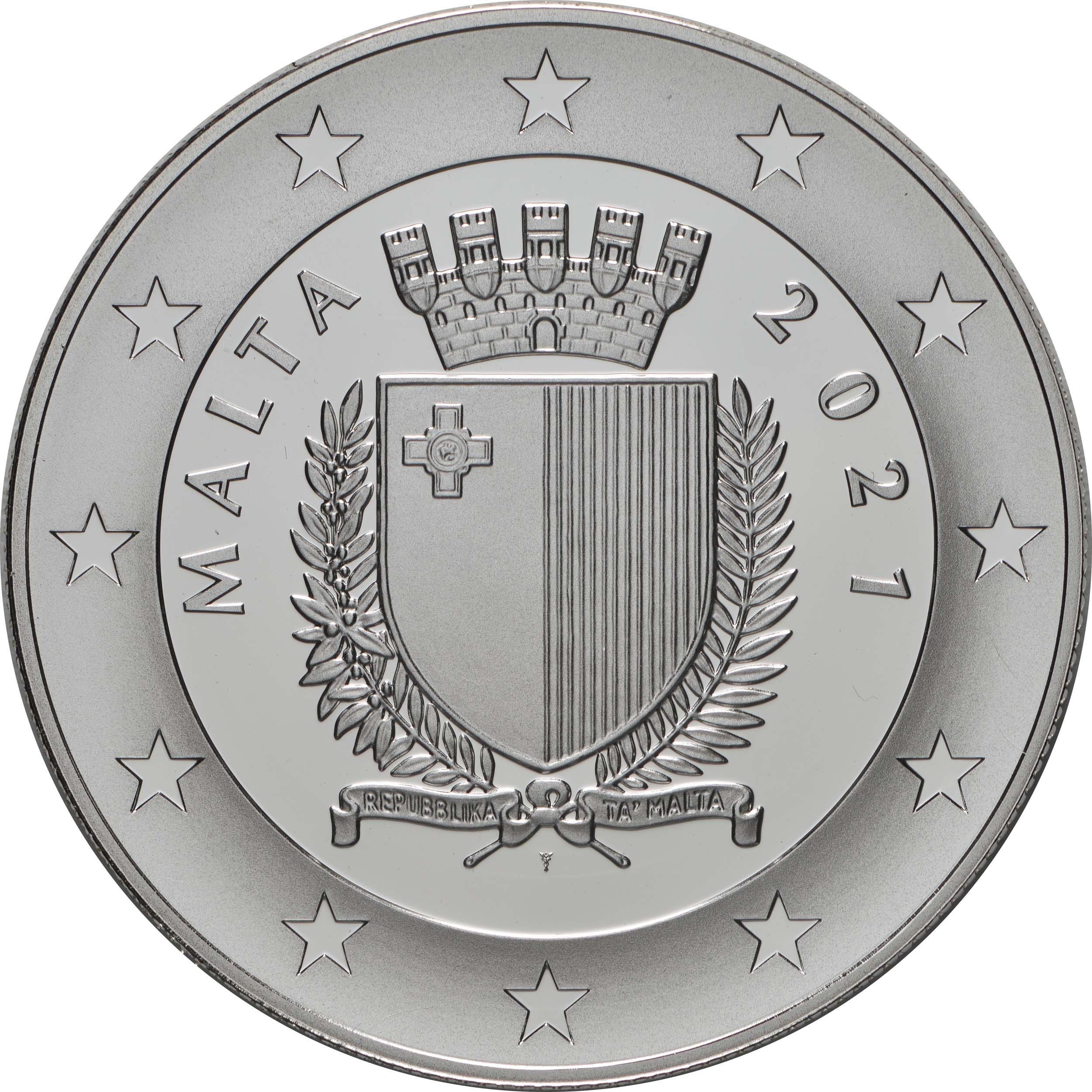 Rückseite:Malta : 10 Euro 25 Jahre Junior College  2021 PP