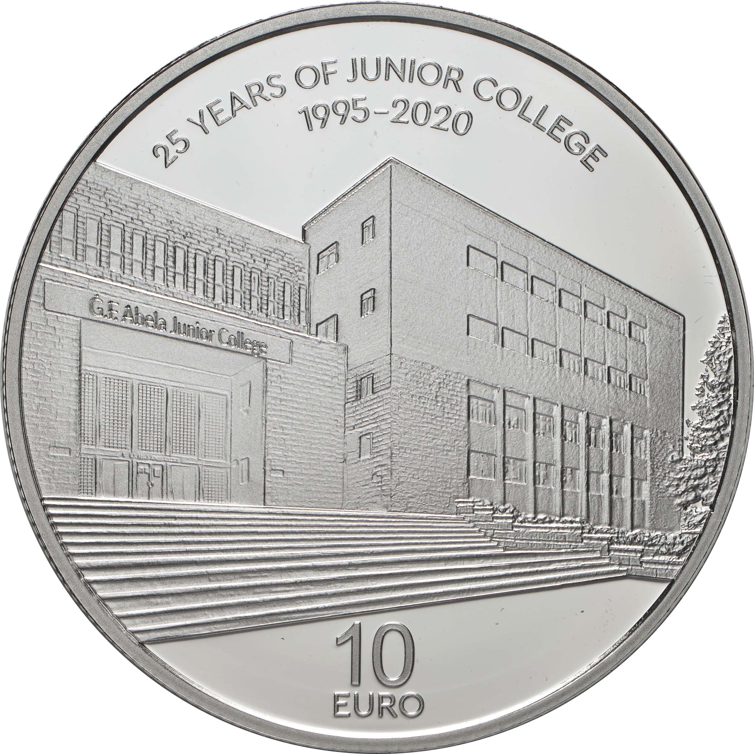 Vorderseite:Malta : 10 Euro 25 Jahre Junior College  2021 PP