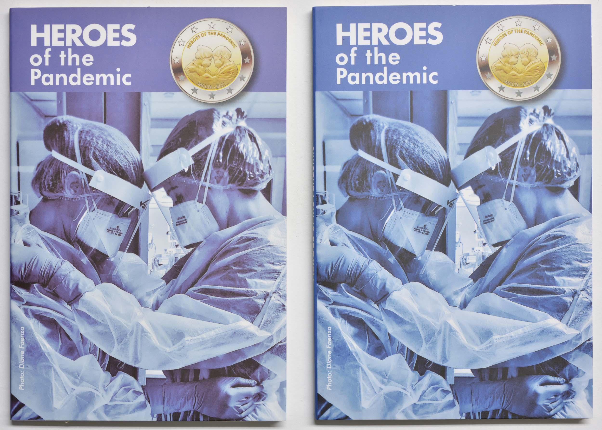 Lieferumfang:Malta : 2 Euro 2x2 Euro Helden der Pandemie Variante Blister blau (Standard) + violett (extrem selten)  2021 Stgl.