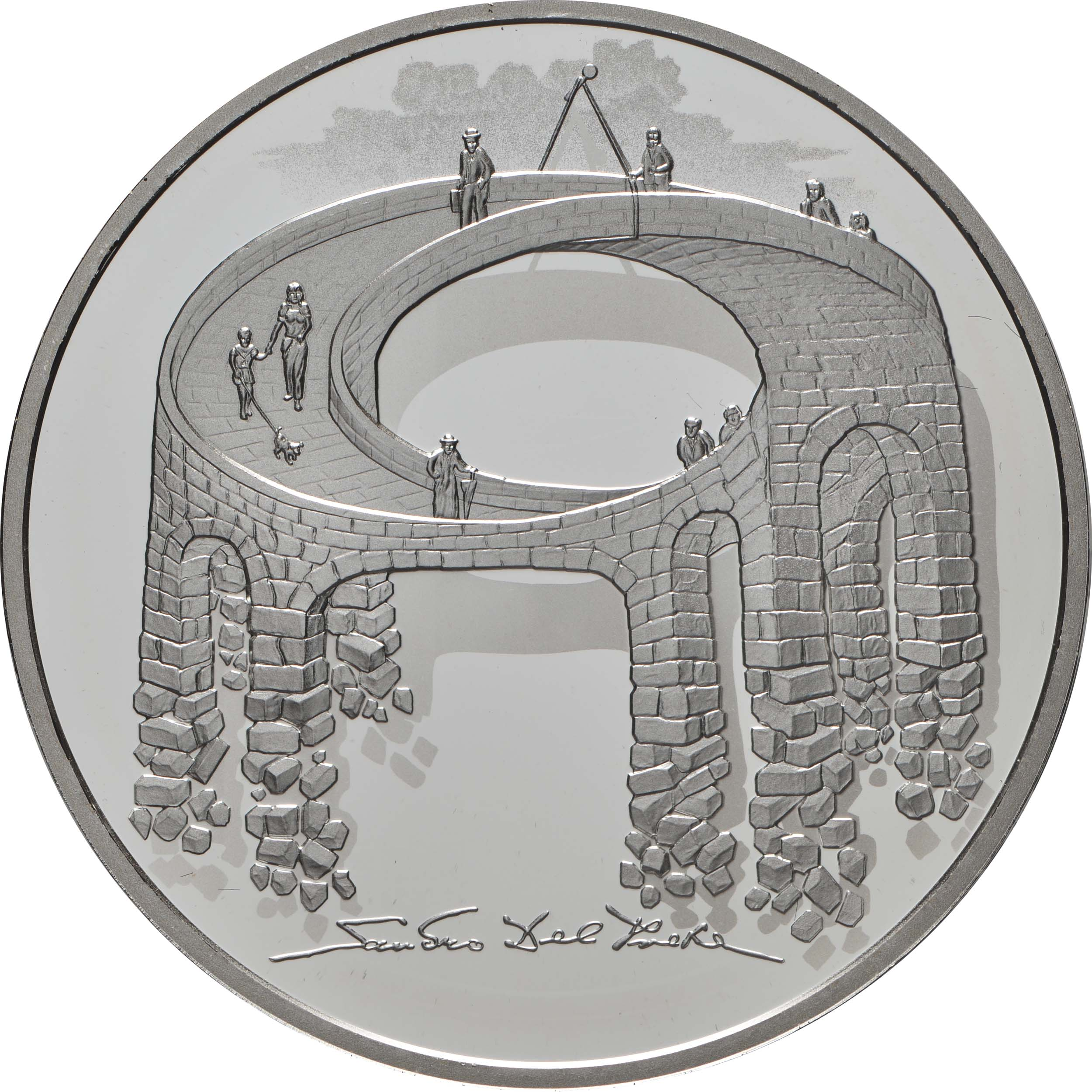 Vorderseite:Schweiz : 20 sfr Illusion - Viadukt des Lebens - Probe  2021 Stgl.