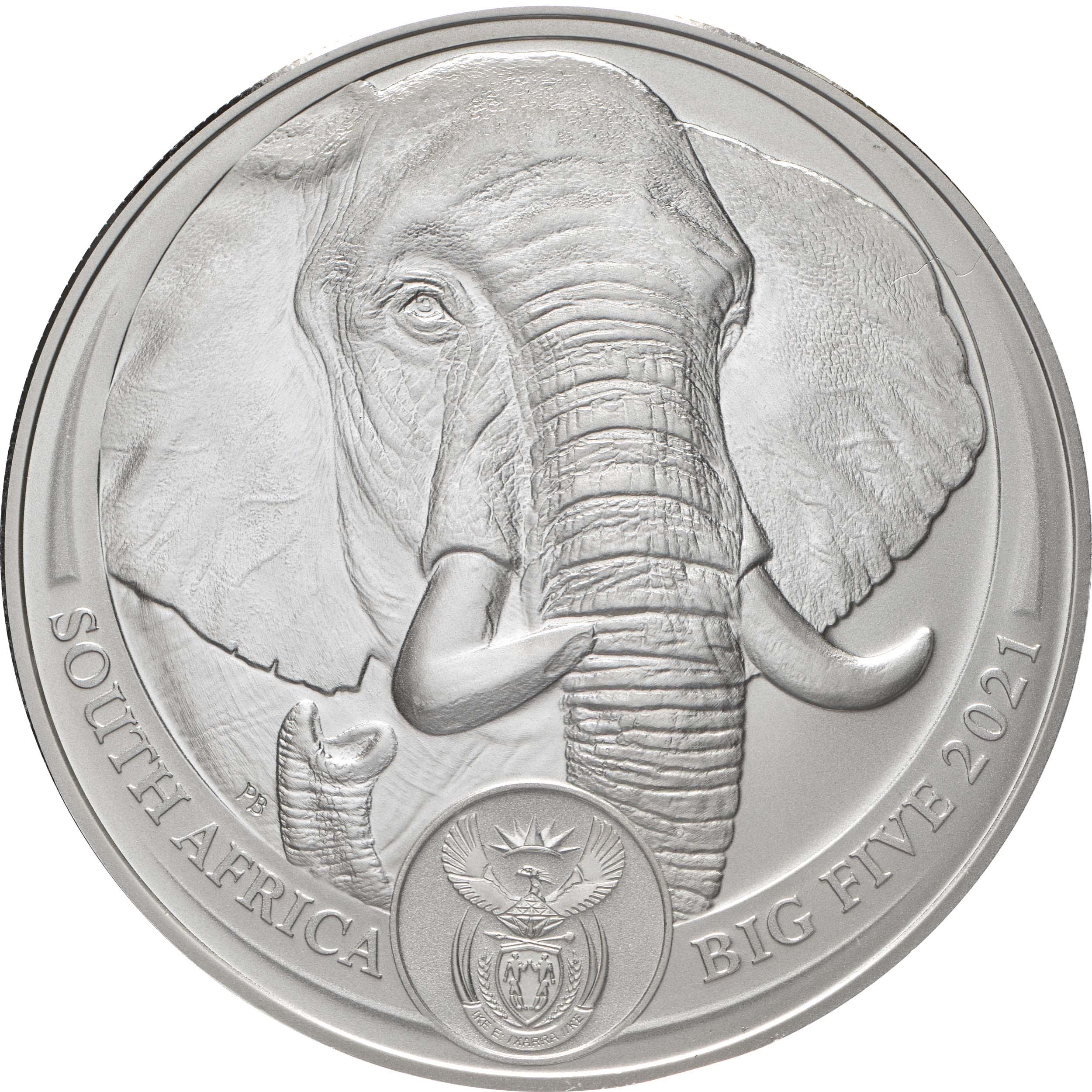 Vorderseite:Südafrika : 50 Rand Big 5 Series II - Elefant  2021 Stgl.