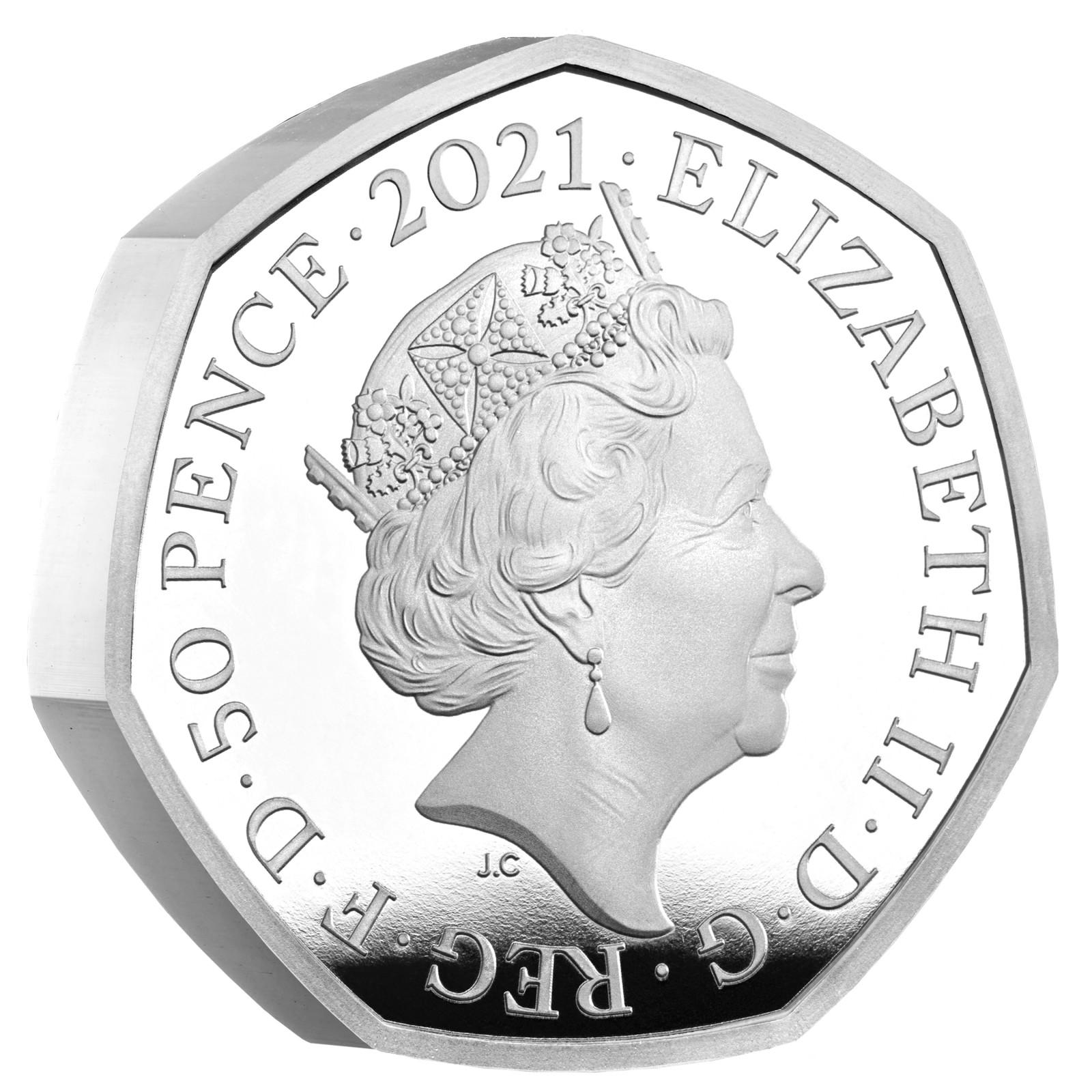 Rückseite:Großbritannien : 0,5 Pfund Charles Babbage (PF)  2021 PP